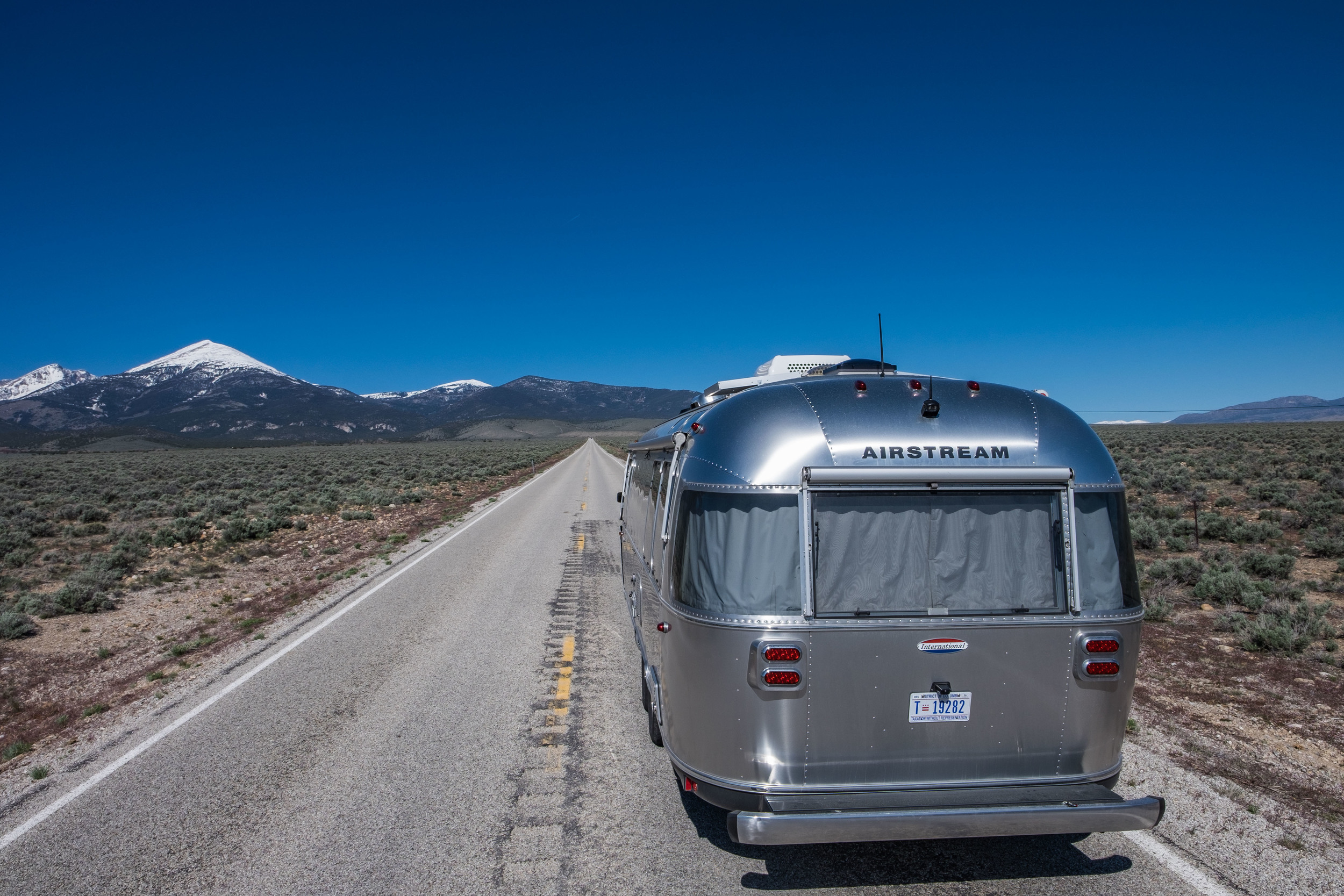 On the road in Great Basin National Park in eastern Nevada.