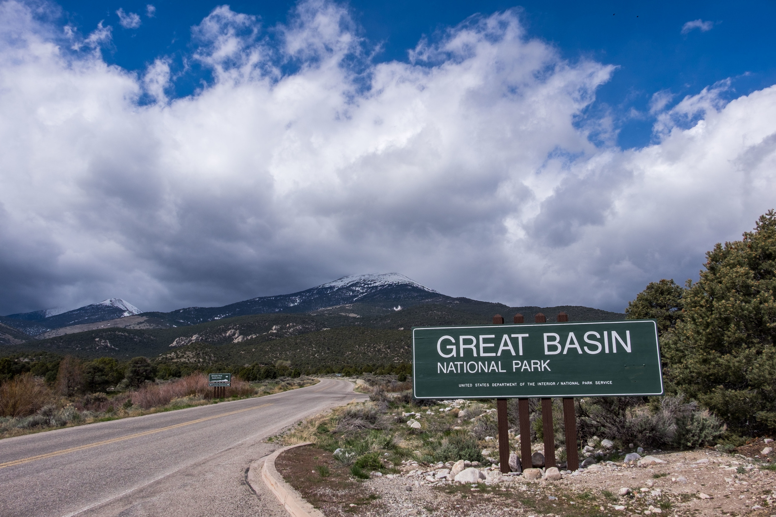 The entrance sign to Great Basin National Park in Nevada.