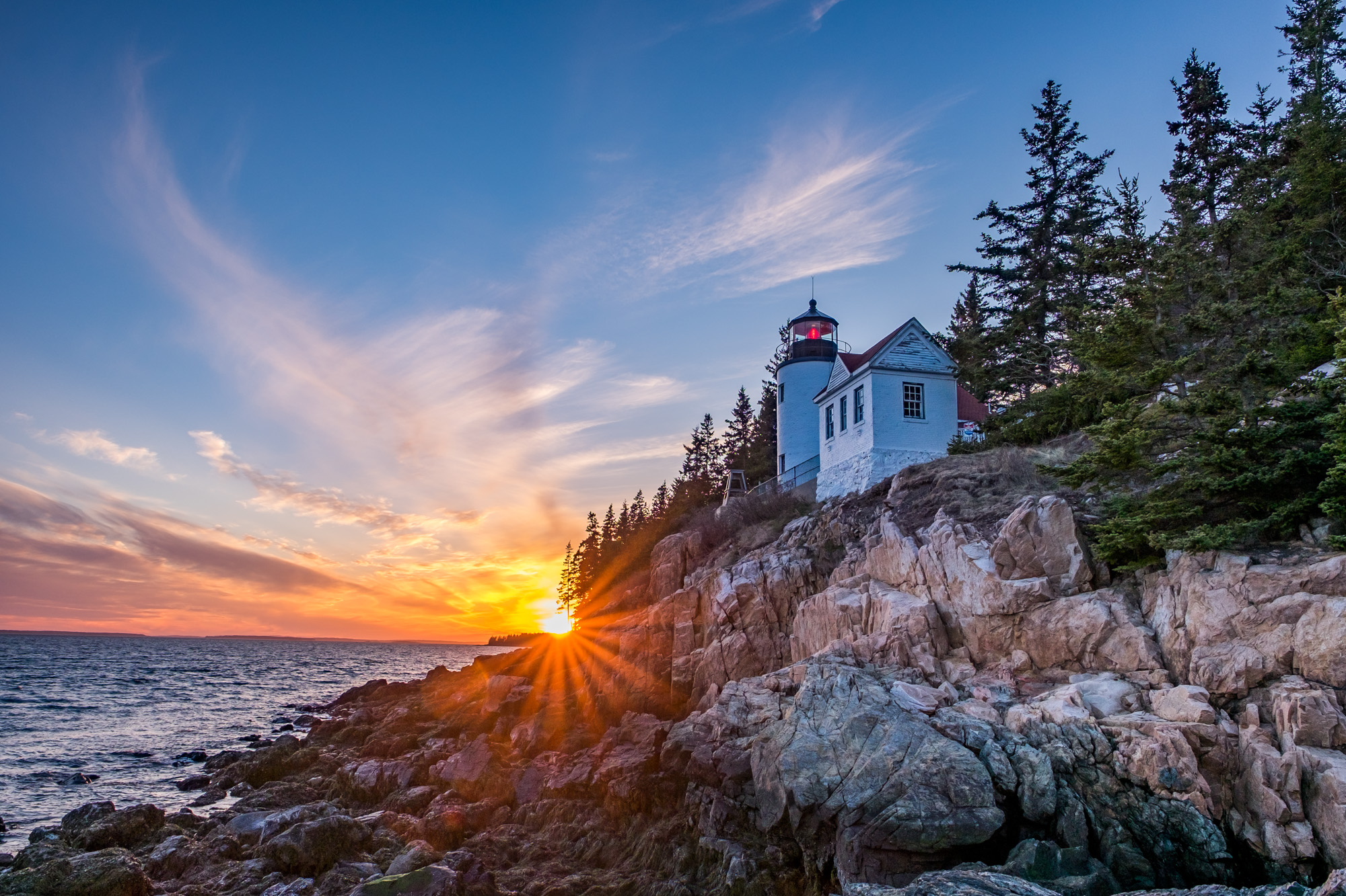 The Bass Harbor Lighthouse looks great under any light, but is especially beautiful at sunset.