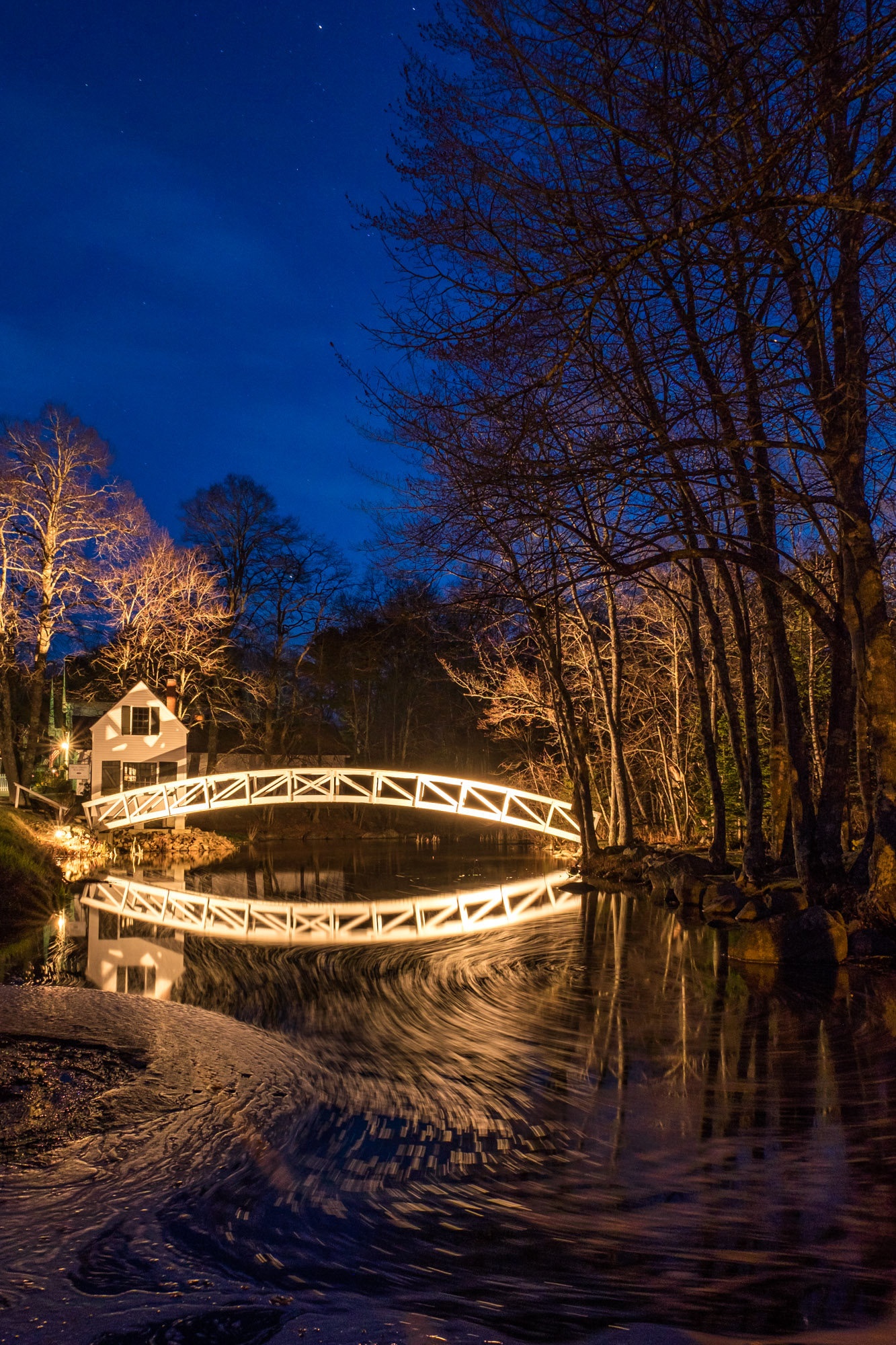 And then I came across the Somesville Bridge, one of the most photographed man-made structures in the area. This was shot at dusk with a tripod.