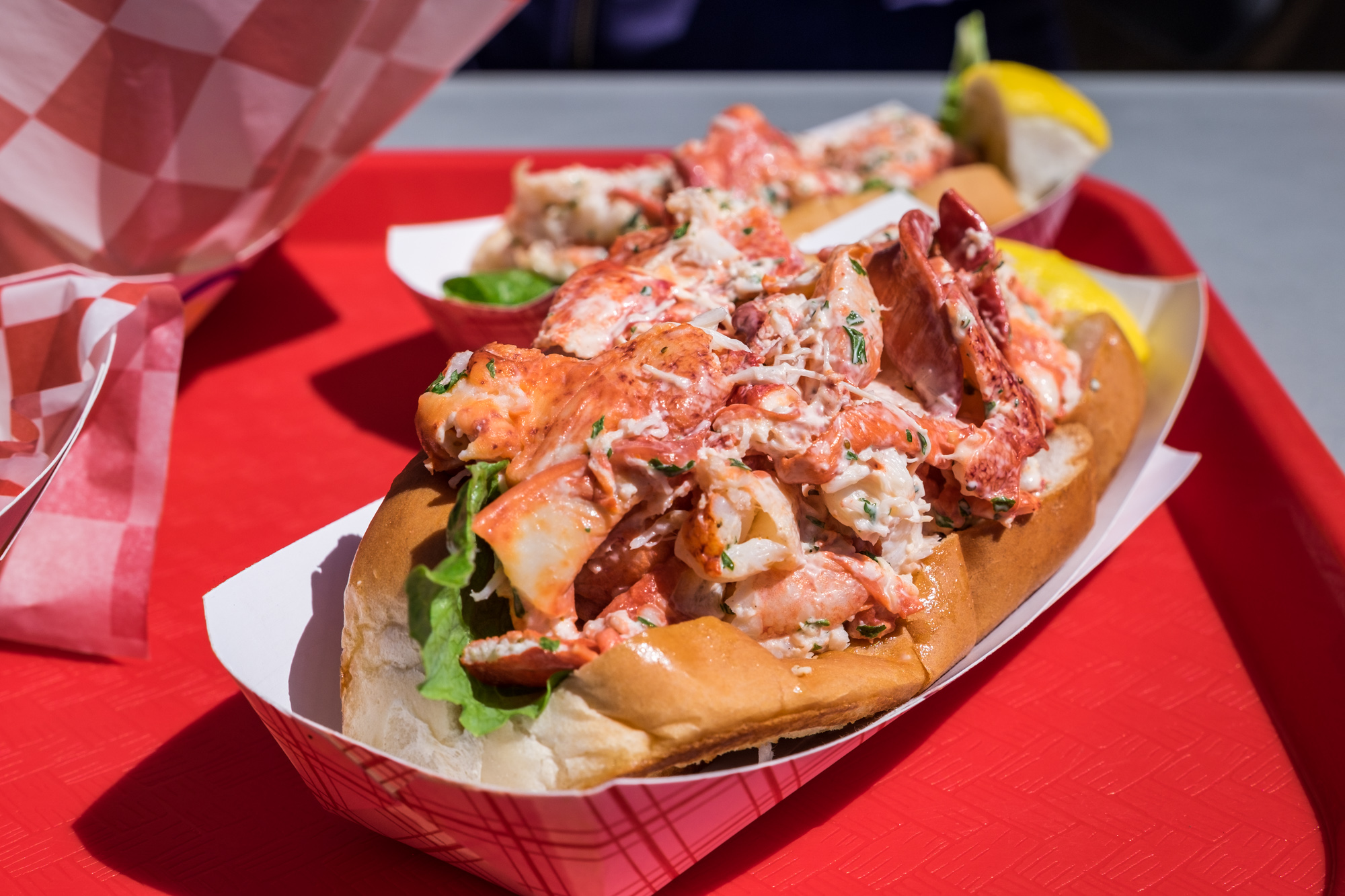 And here is the famous lobster rolls.....so good!