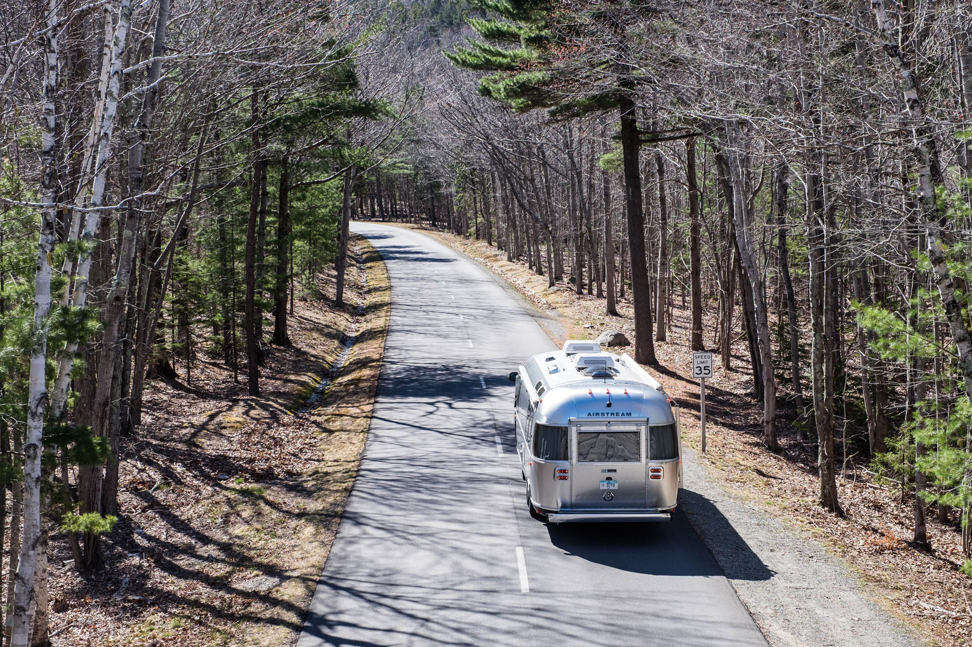 We drove the park loop road several times, almost always with our trailer in tow.