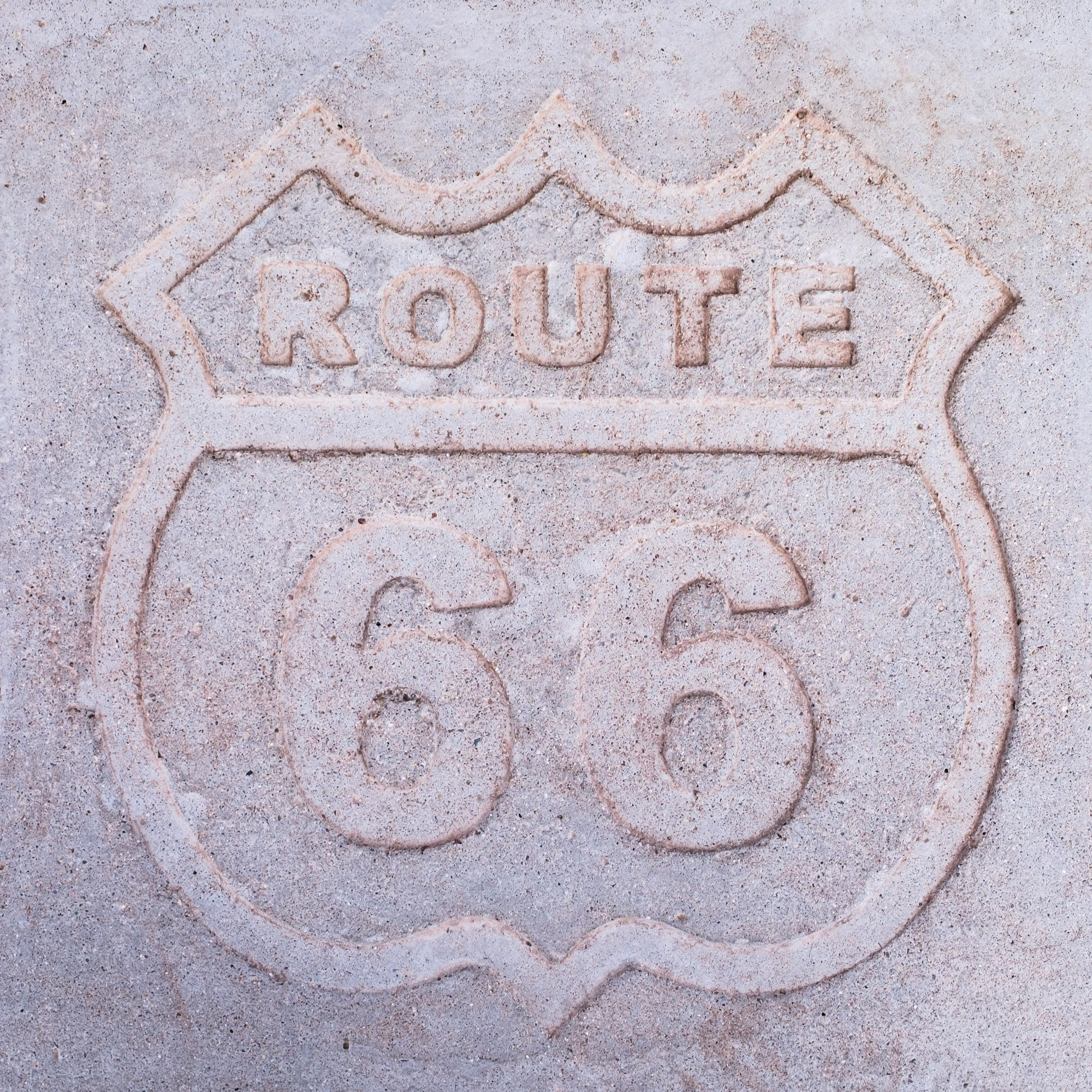 "We stepped foot on historic Route 66 while in Petrified Forest National Park -- the only National Park with a piece of ""the Mother Road"" within its boundaries."