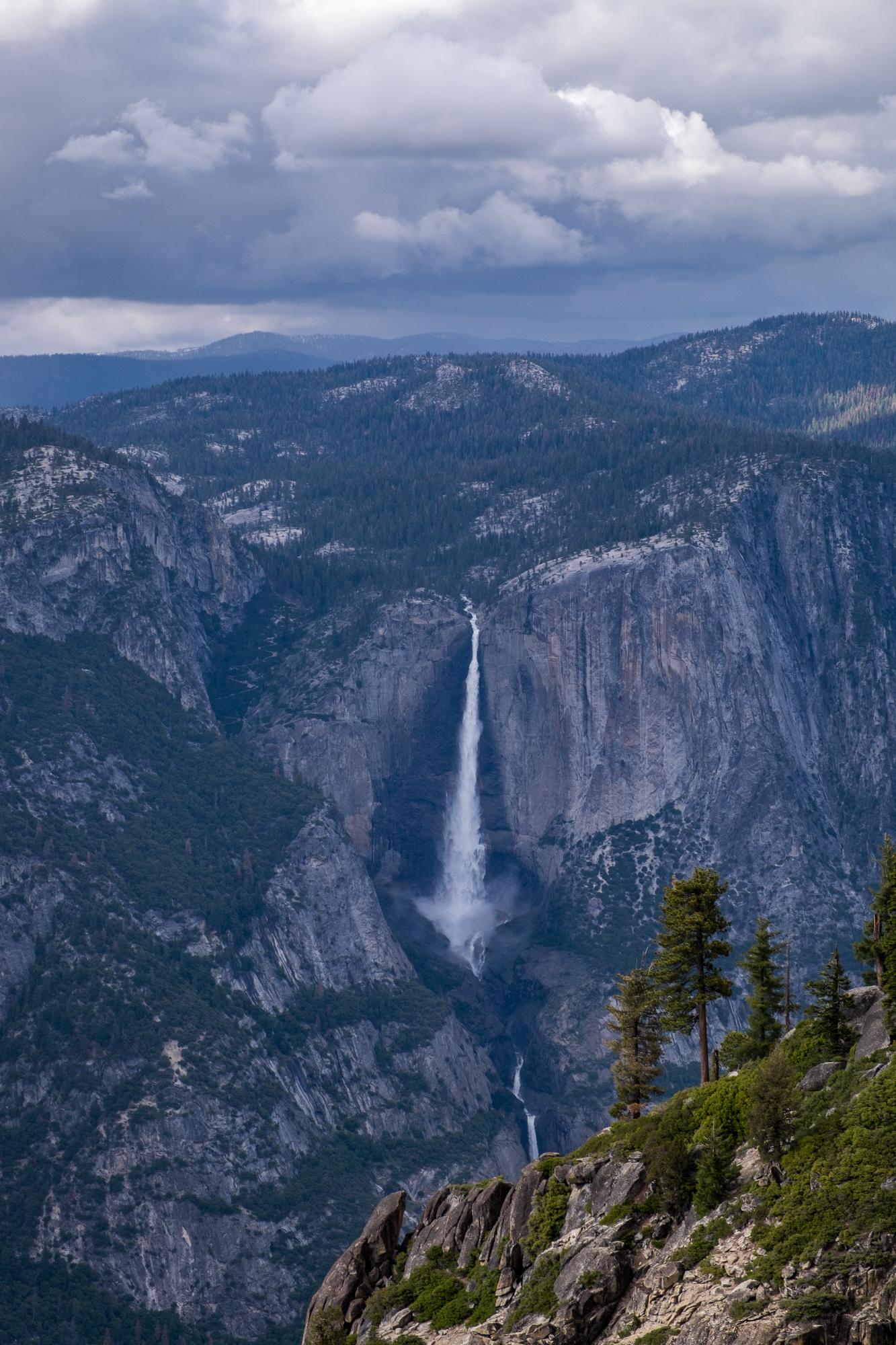 Beautiful distant views of Yosemite Falls.