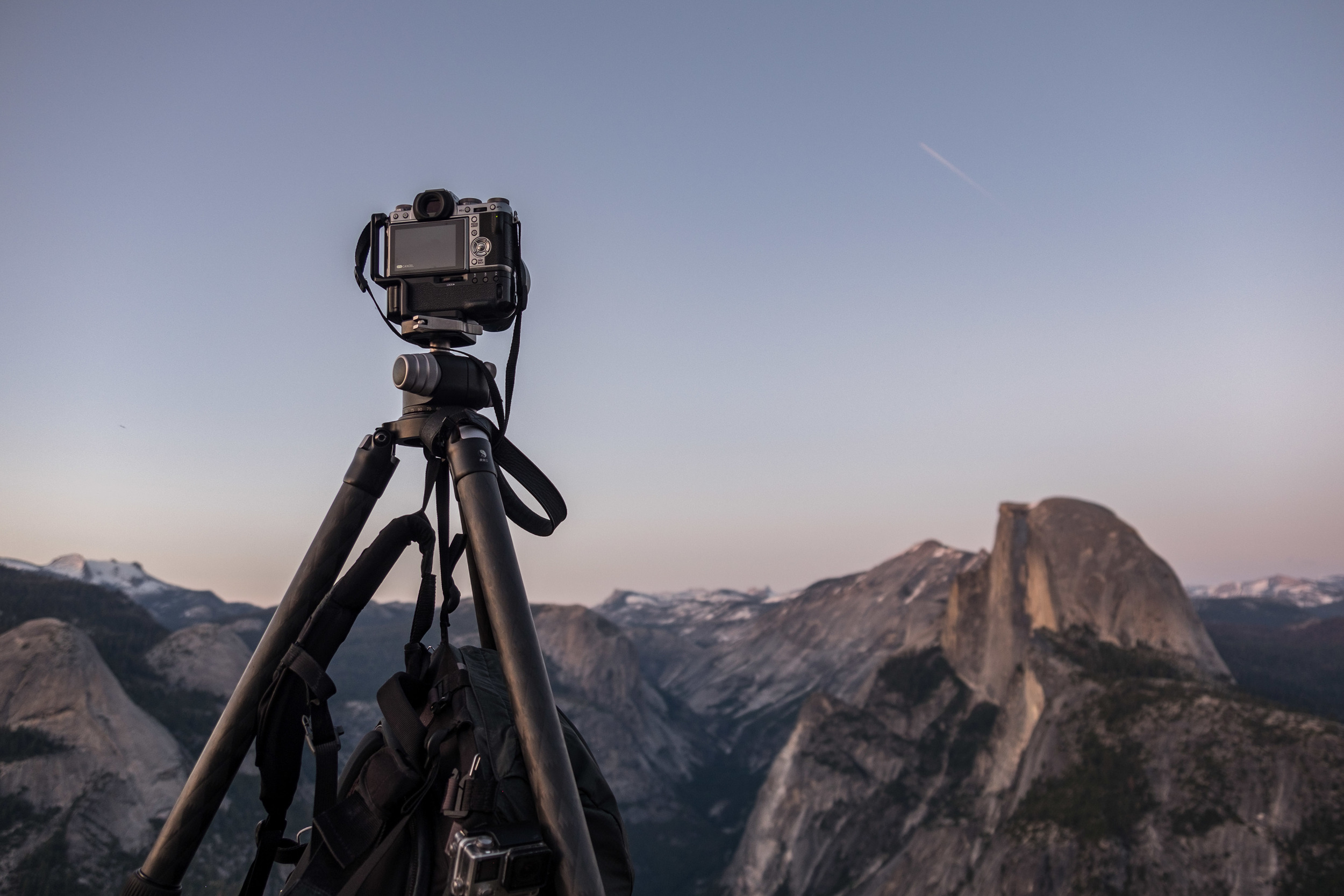 Shooting Yosemite National Park's Glacier Point at sunset with the XT-1.