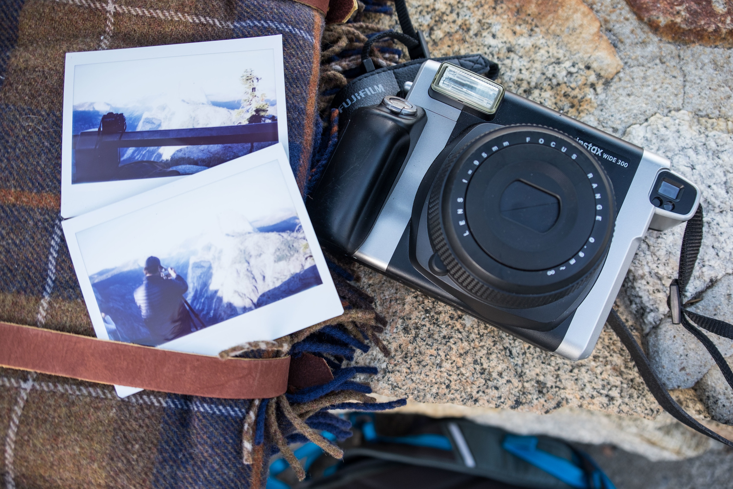 Our Fujifilm Instax readies for a photography picnic at Tunnel View in Yosemite National Park.