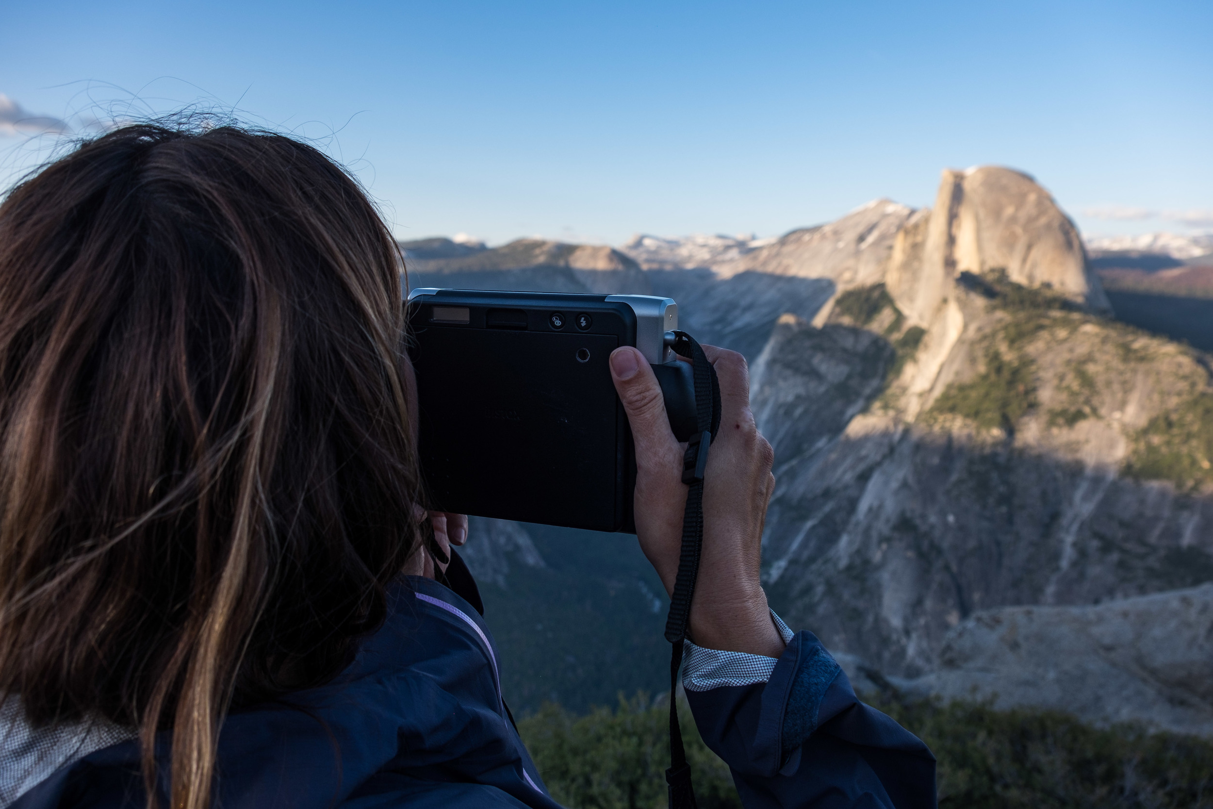 Want to meet the most prolific Fujifilm Instaxer roaming the United States today? This is Stefanie at Yosemite National Park, capturing the beauty of Glacier Point.