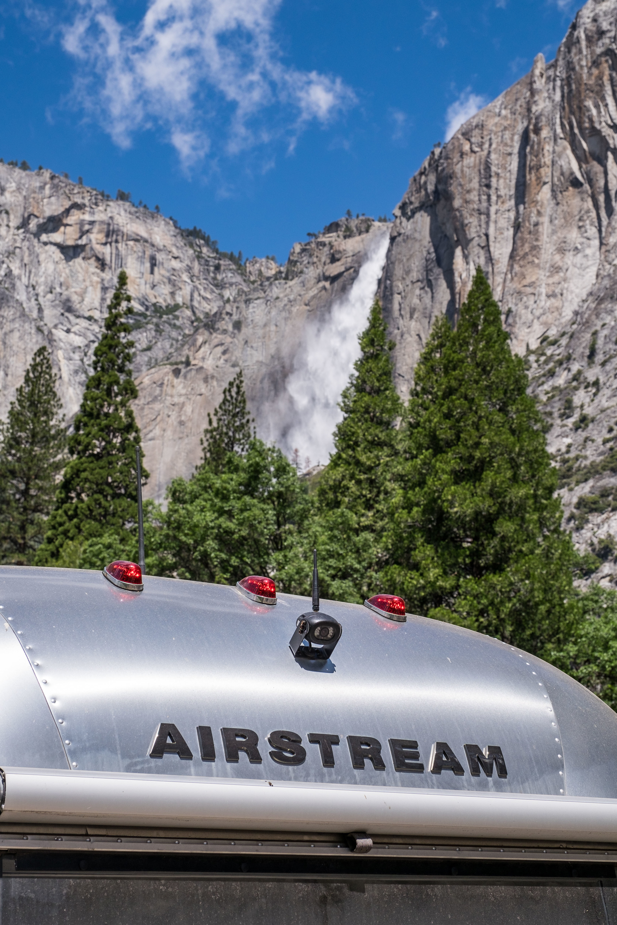 The Airstream takes on Yosemite National Park in sunny California.