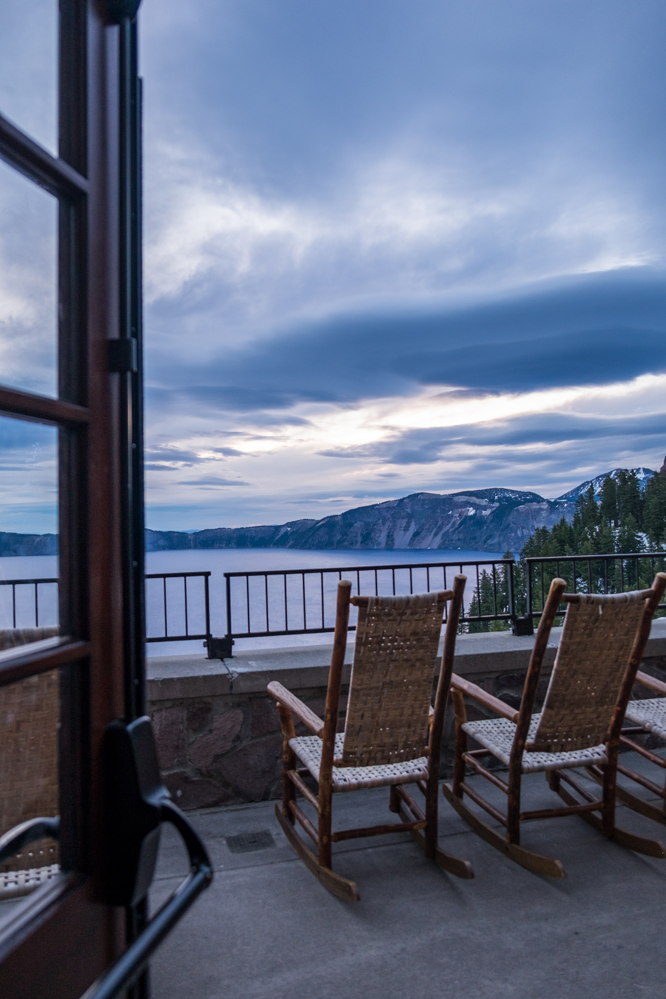 The back porch is the best place to check out the lake while sipping on a drink.