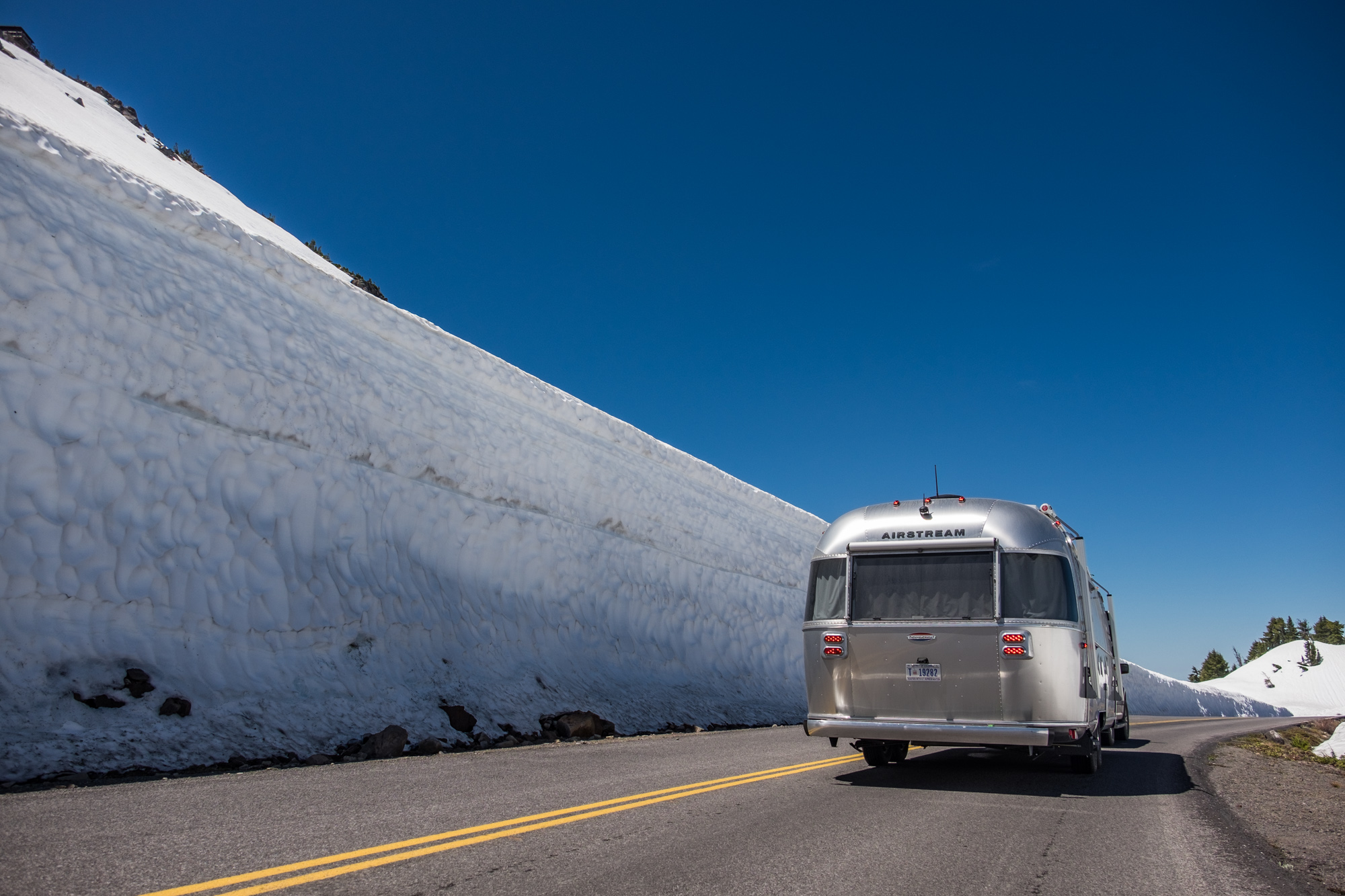 The snow banks were higher than Wally in some places!