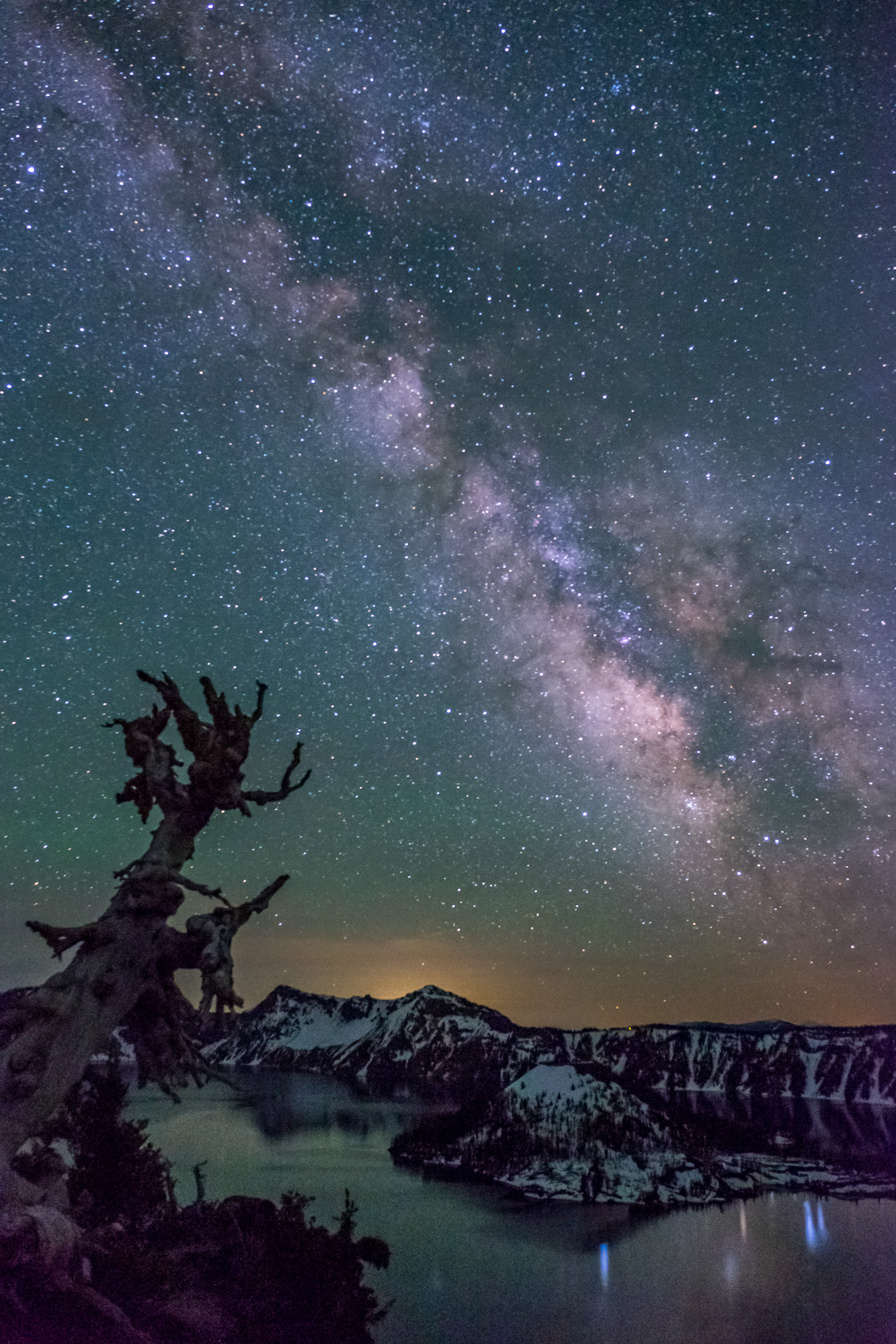 The night skies are incredible in Crater Lake.