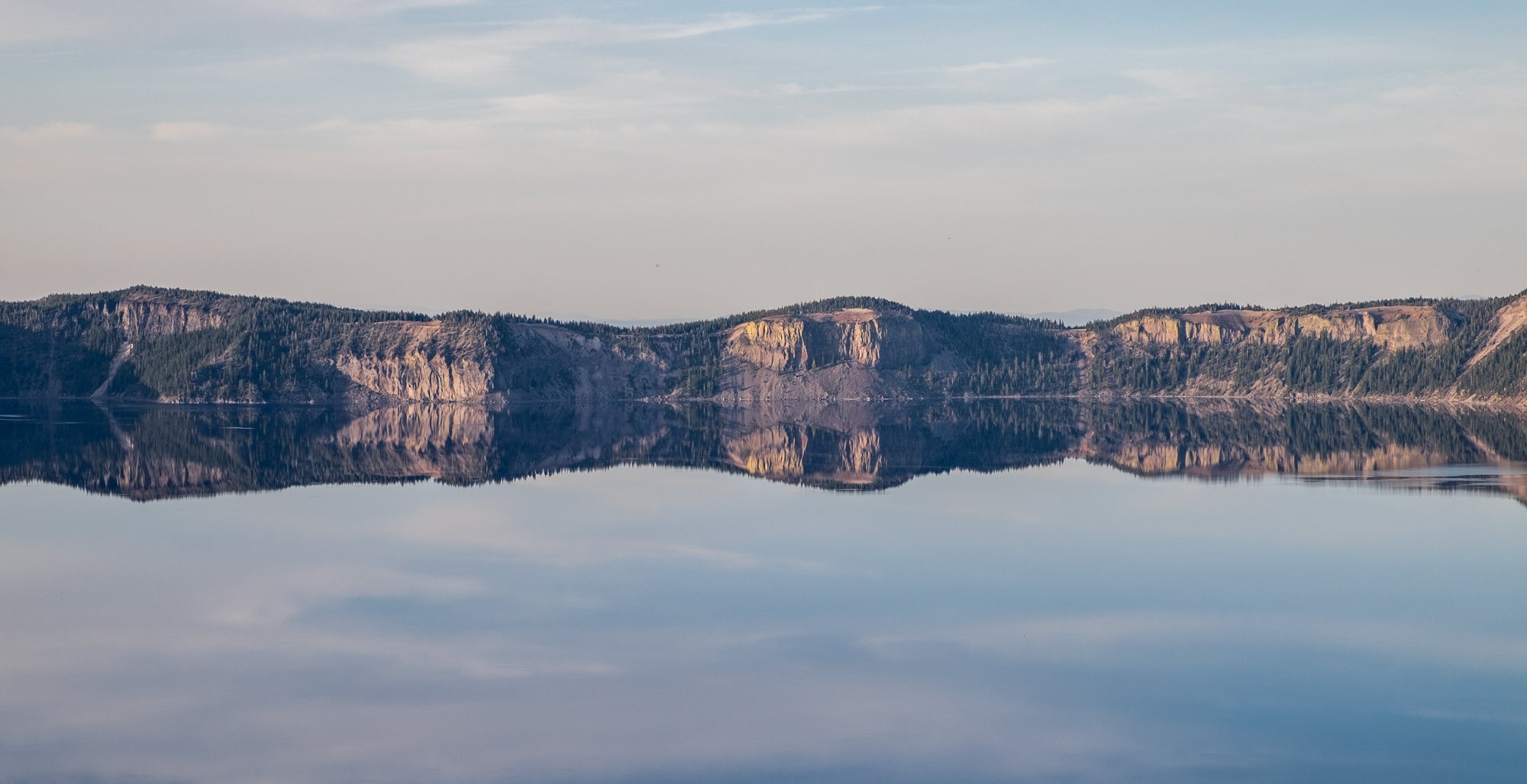 Nature's Rorschach test -- reflection perfection at the deepest lake in the United States.