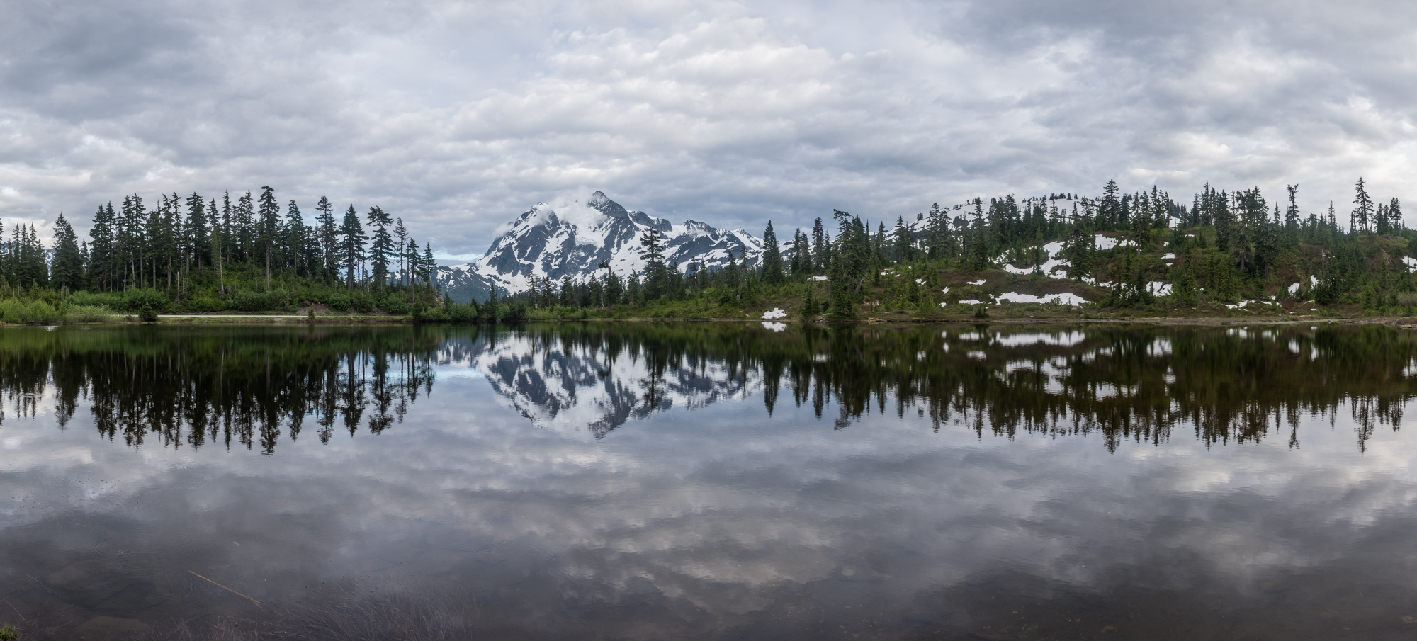 A panorama of Mount Shuksan. We loved our time in the North Cascades....next stop: ALASKA! Onward....