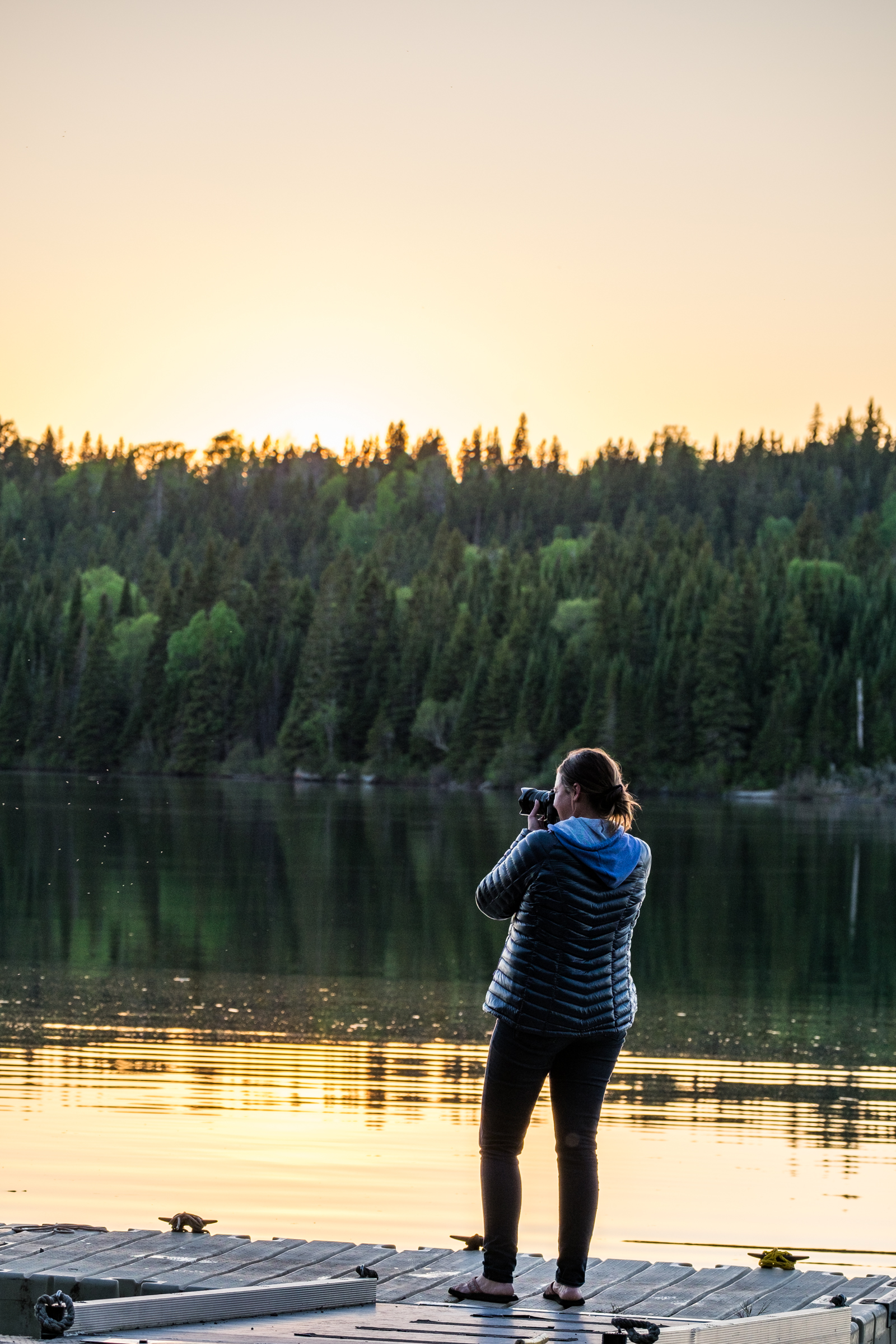 Capturing the sunset at Isle Royale National Park in Michigan's Upper Peninsula.