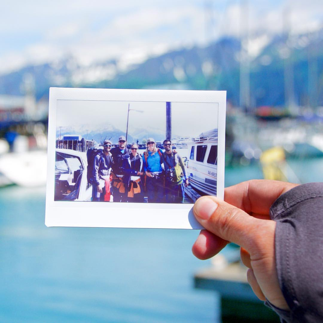 Walking away from our backcountry adventures with great memories and new friends -- captured with Fujifilm Instax after the conclusion of our trip. (Photo credit: Ruk DeSilva)