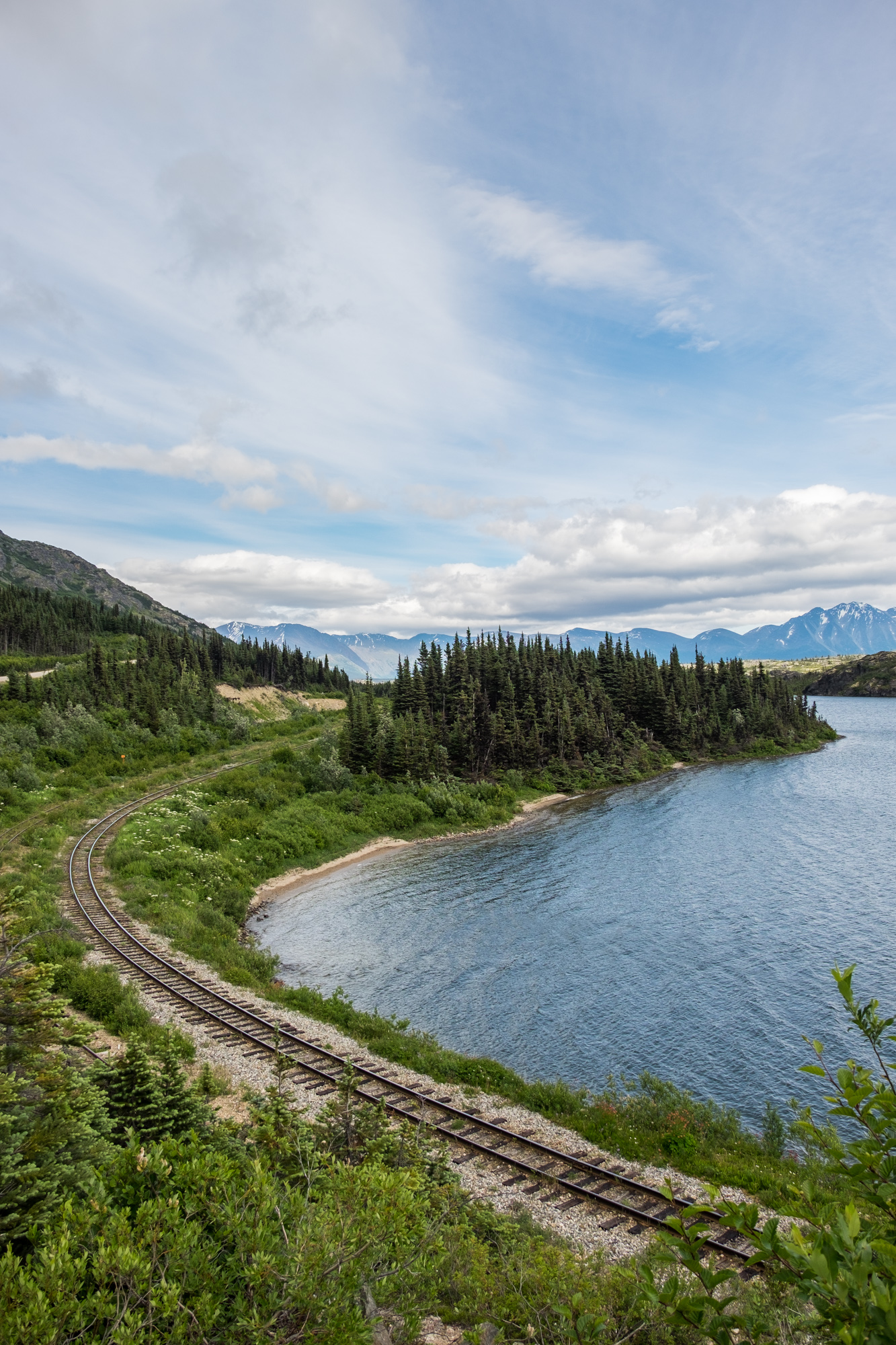 We had to drive to Skagway to fly to Gustavus, and we passed this cool old-time Klondike railroad along the way.