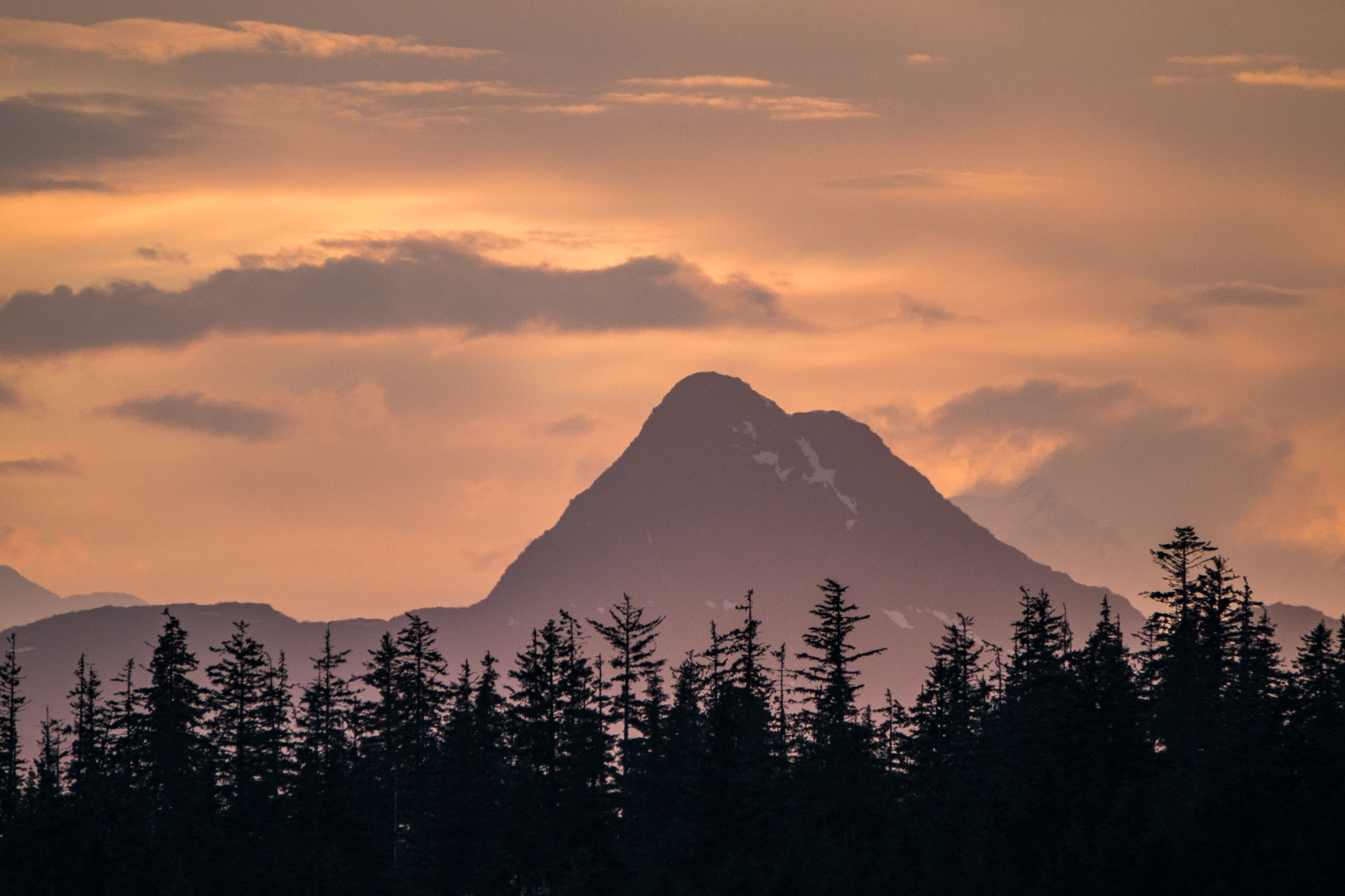 We saw some great sunsets from the Glacier Bay Lodge in the heart of the park.
