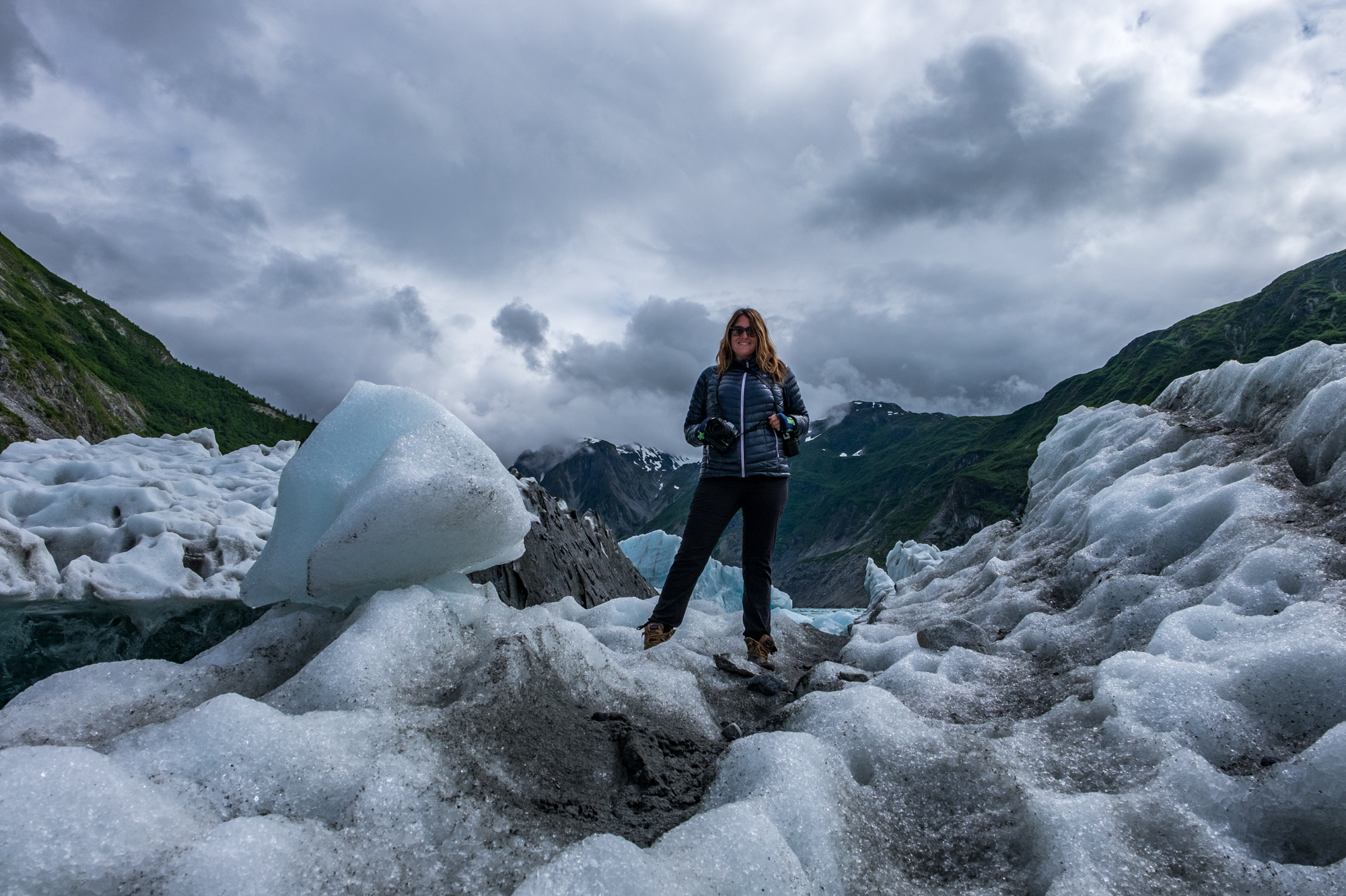 We even got to step on an iceberg, something neither Stef nor I had ever done.