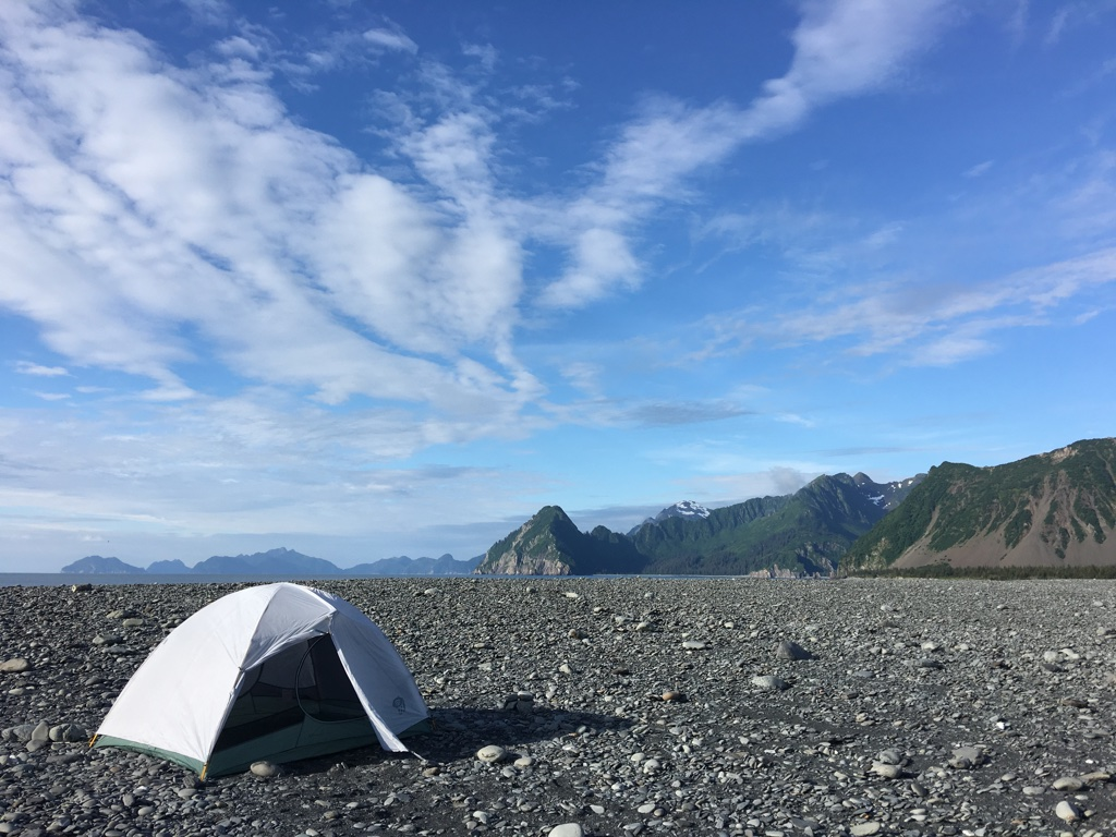 Our Mountain Hardwear Ghost Sky tent stands tough on Moraine in Alaskan backcountry.