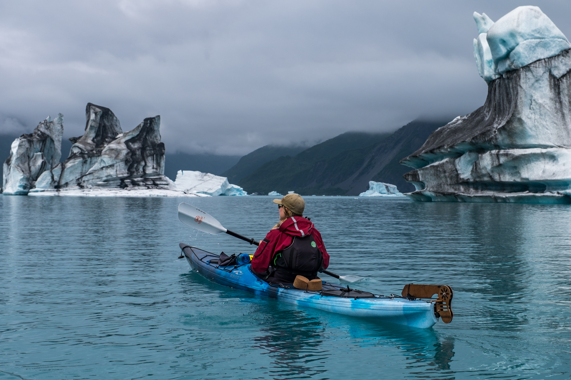Kayaking among these interesting ice formations was surreal.