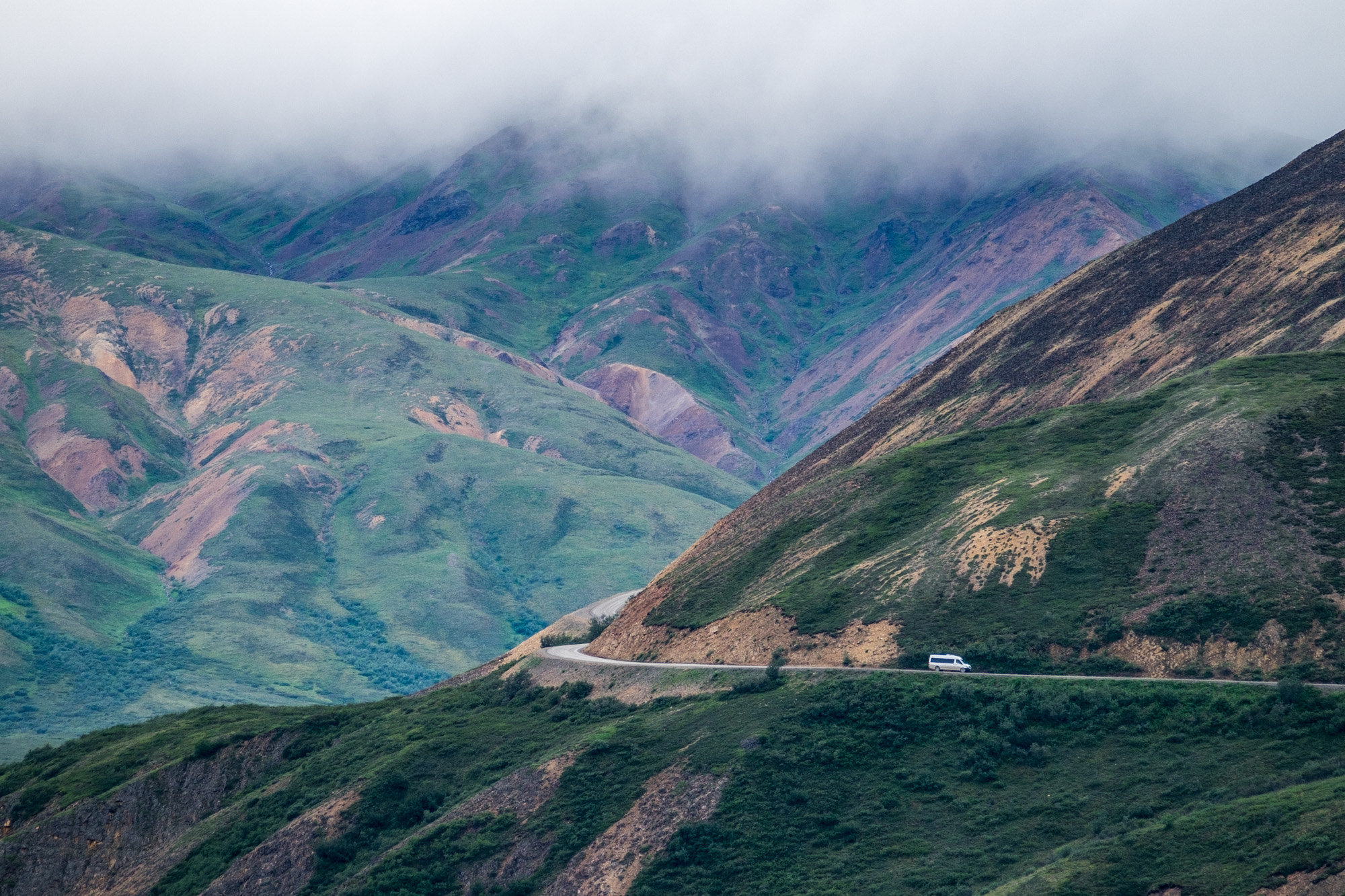 Dirt roads and big views...that's Denali.