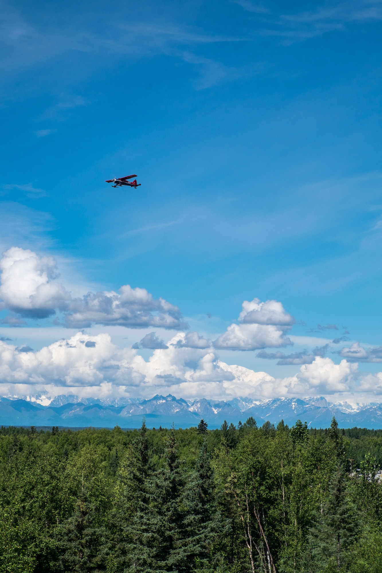 And when Denali is out, the flightseeing tours go bonkers.