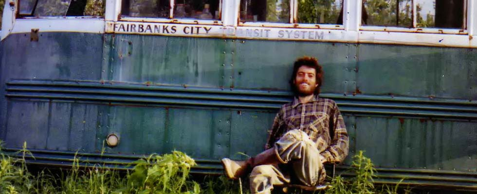 A self-portrait of Chris McCandless on the Stampede Trail, found undeveloped in his camera after his death. Photo credit: Wikipedia