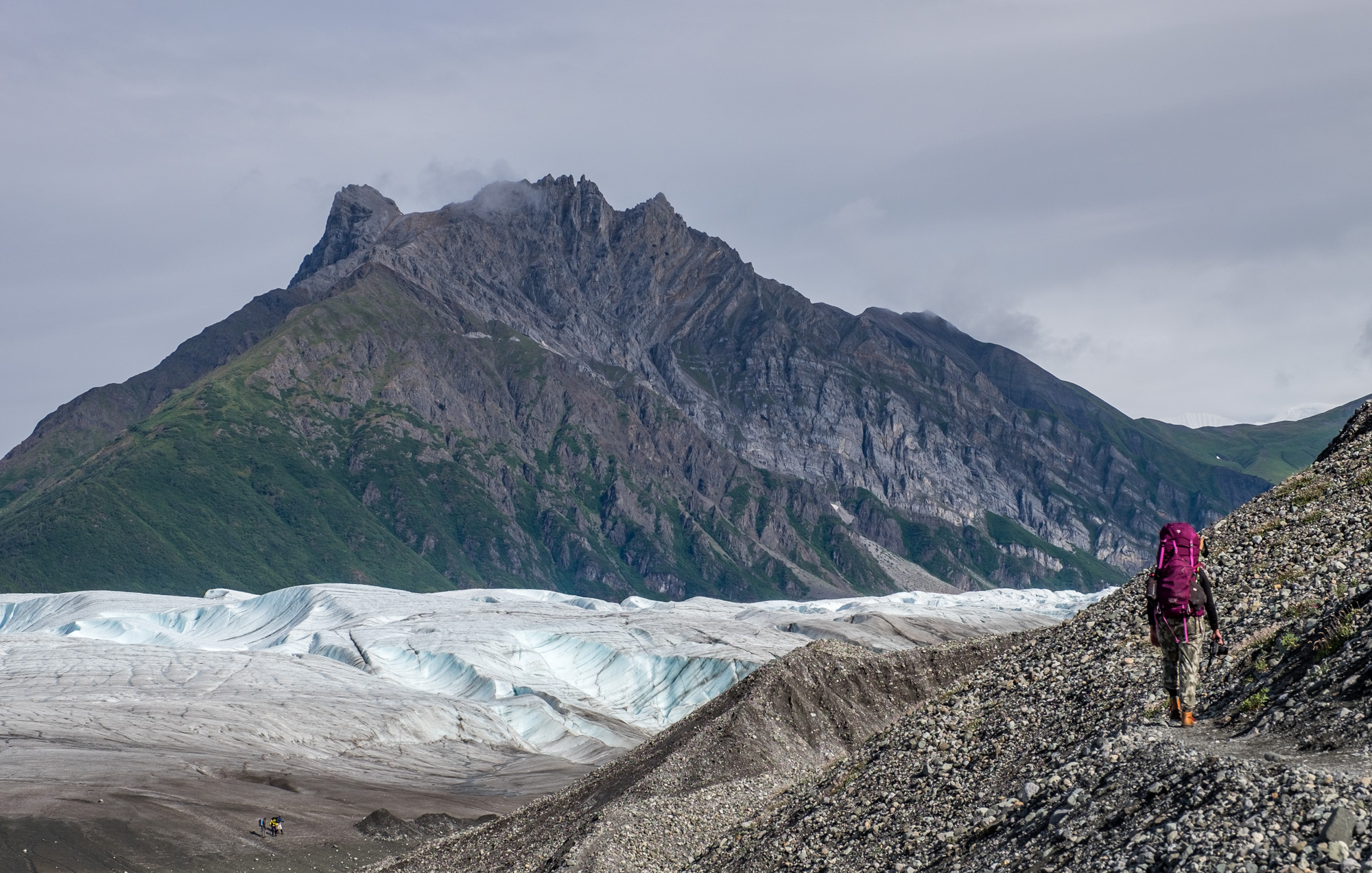 Our first views of the Kennicott glacier.