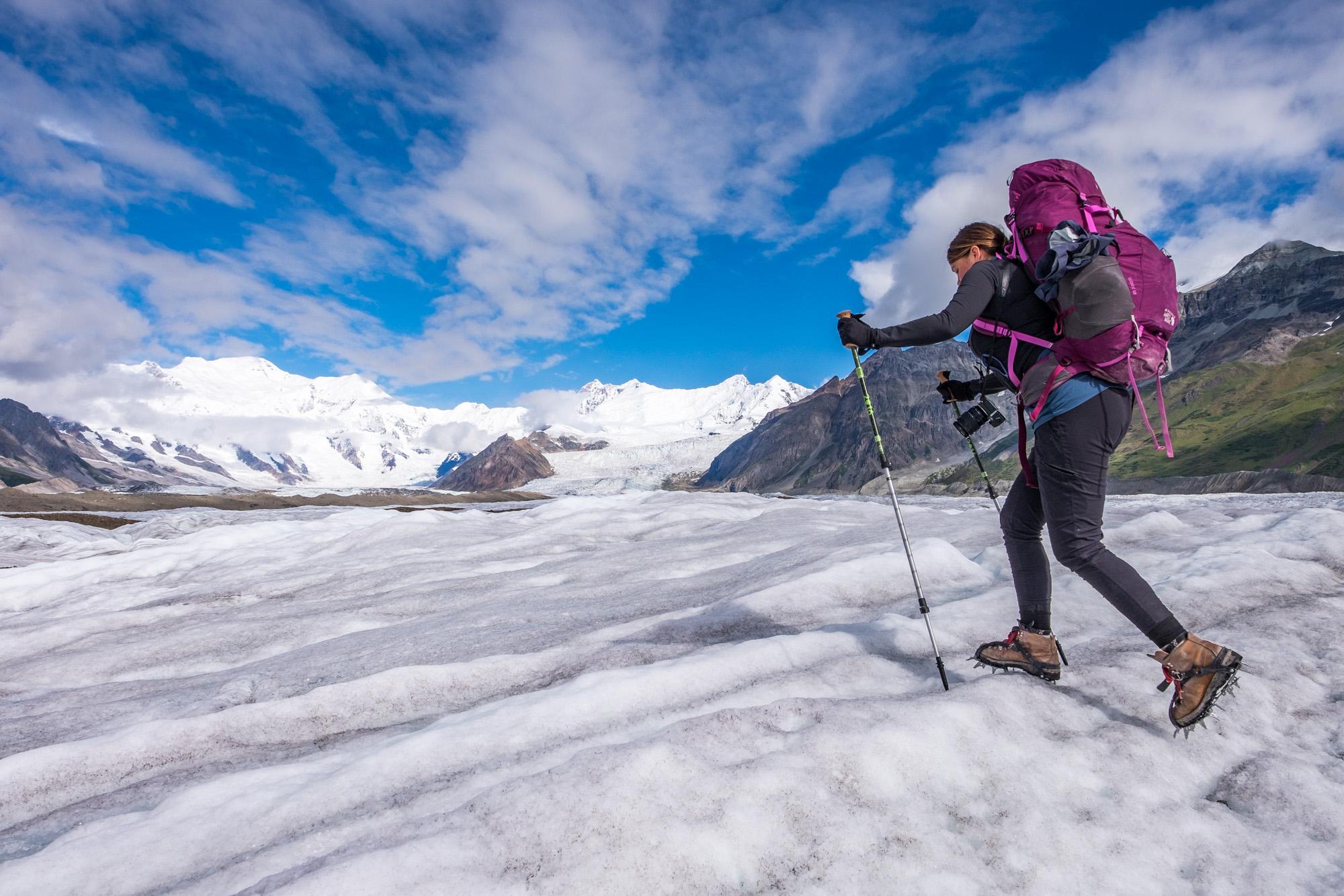 Last day of trekking across glaciers.