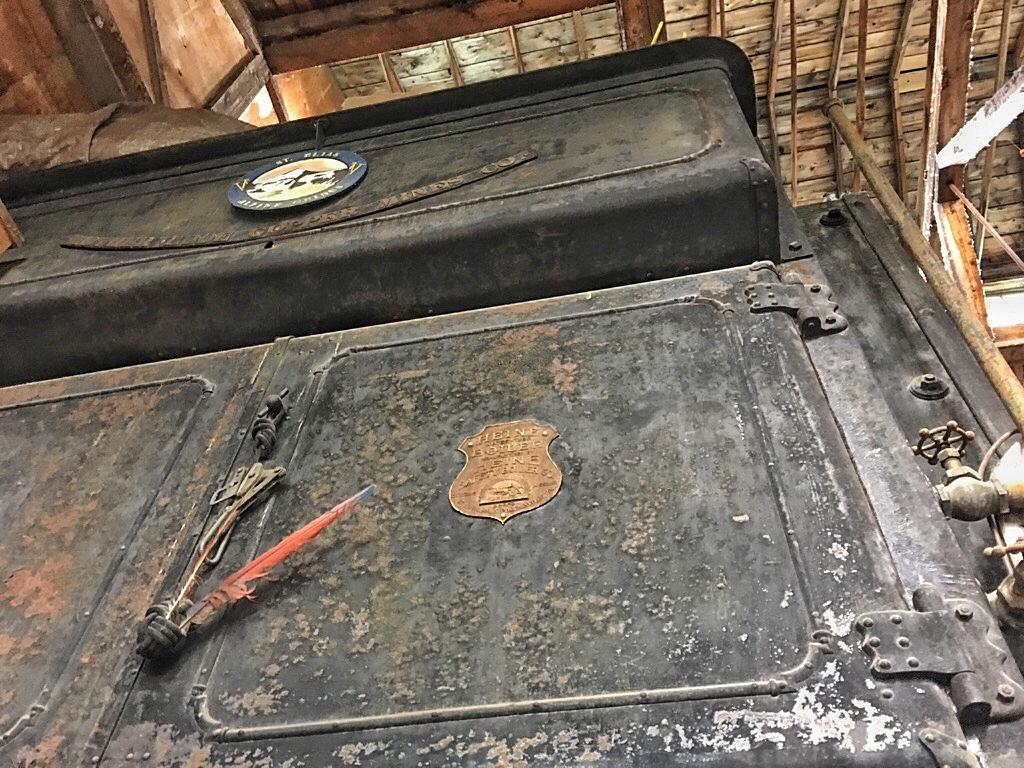 An original wood stove furnace at the Motherlode Powerhouse.