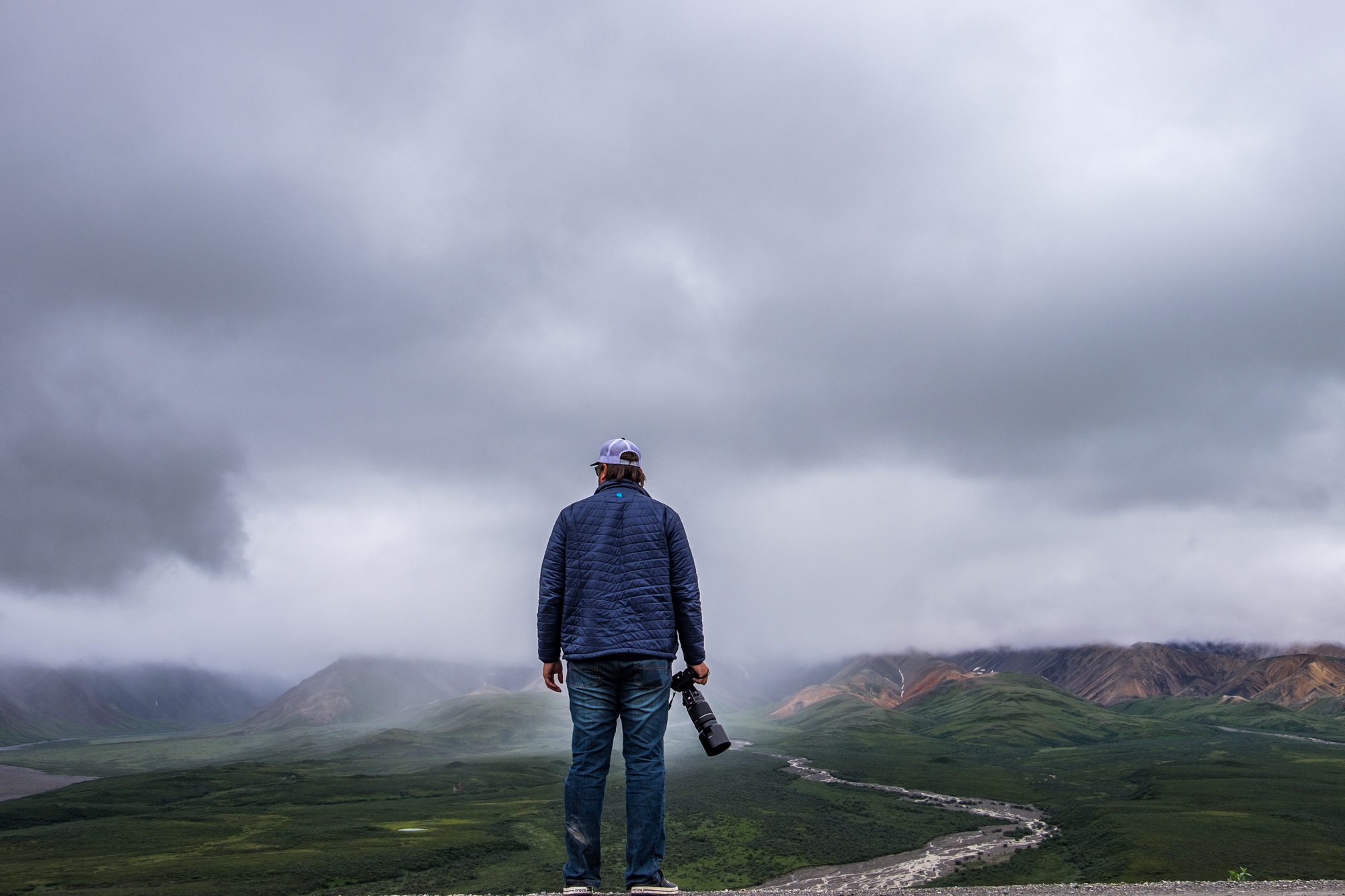"""Jonathan in Denali with his usual landscape and train of thought...""""what to shoot, what to shoot?!"""""""