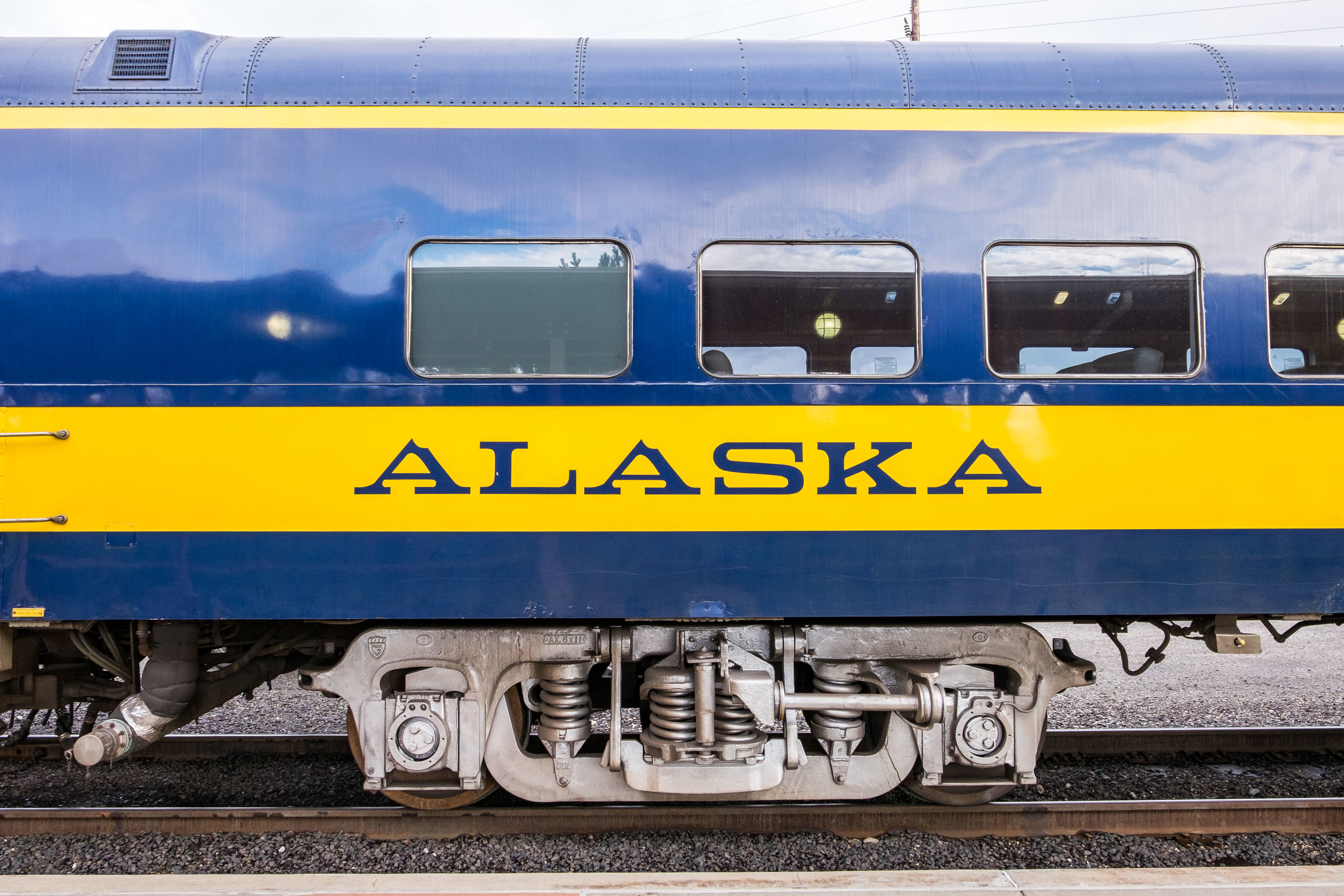 Old-time train: the Alaska Railroad, originally called the Alaska Central Railway, was the first railroad in Alaska. It was built in 1903.