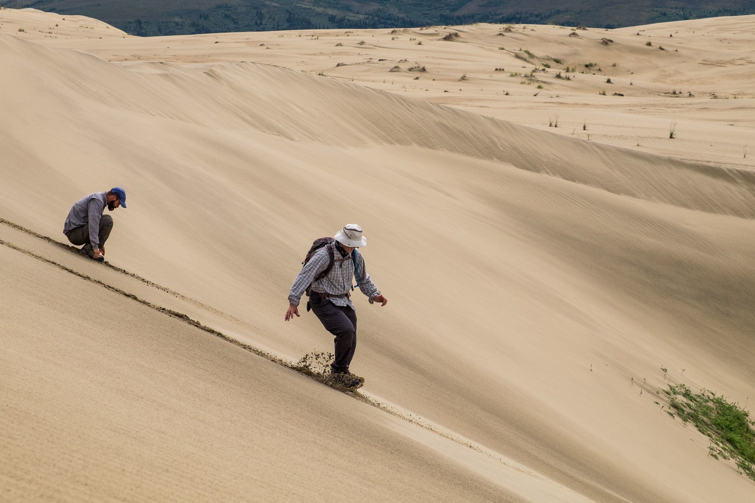 Some thought it would be fun to run down the dunes.