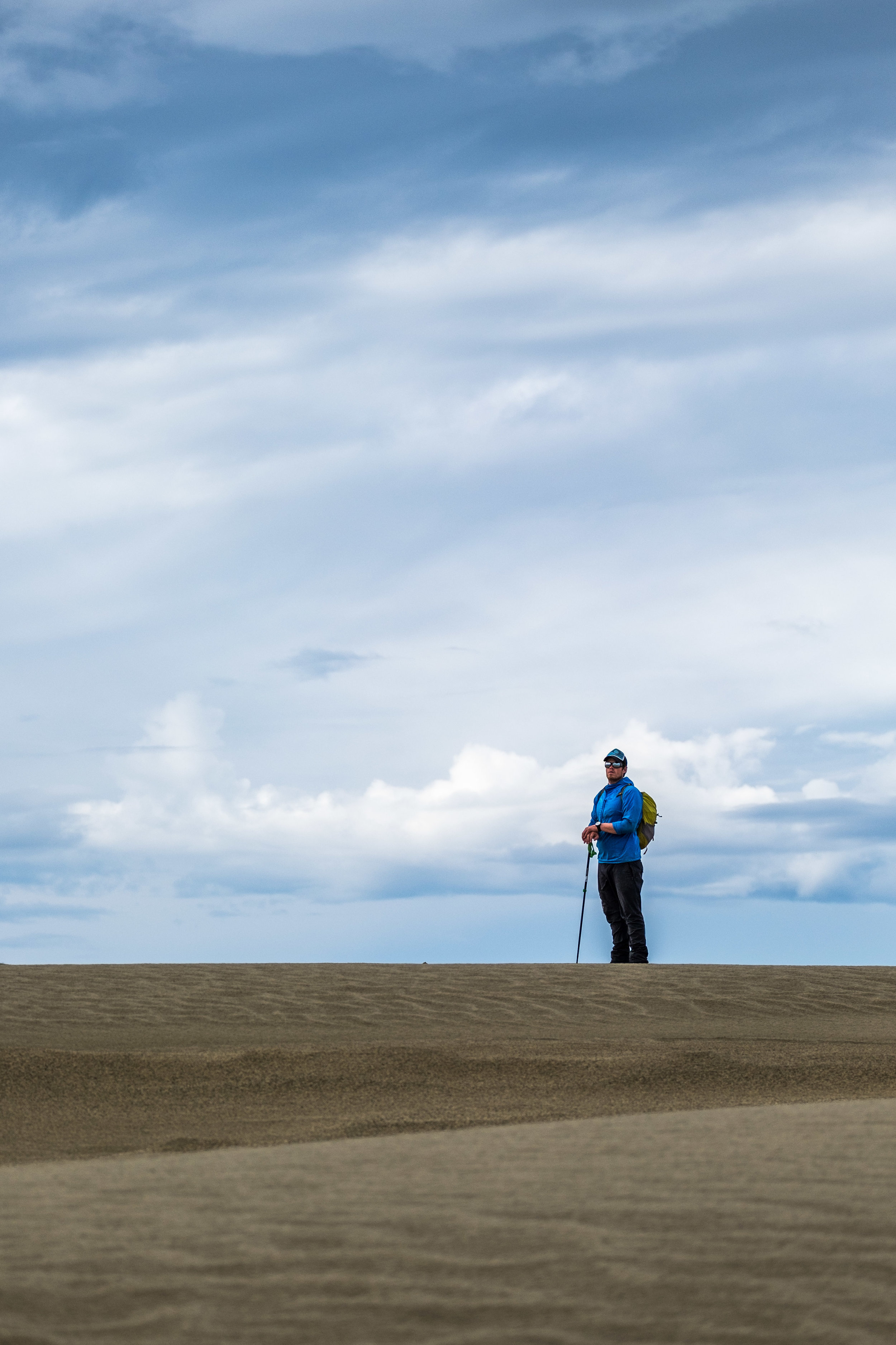 Sean being very stoic on the dune.
