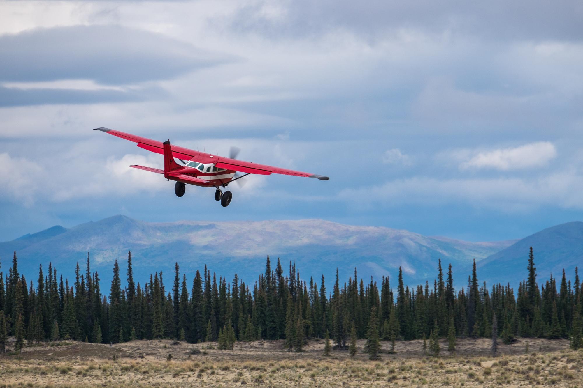Flying into the Kobuk wilderness.