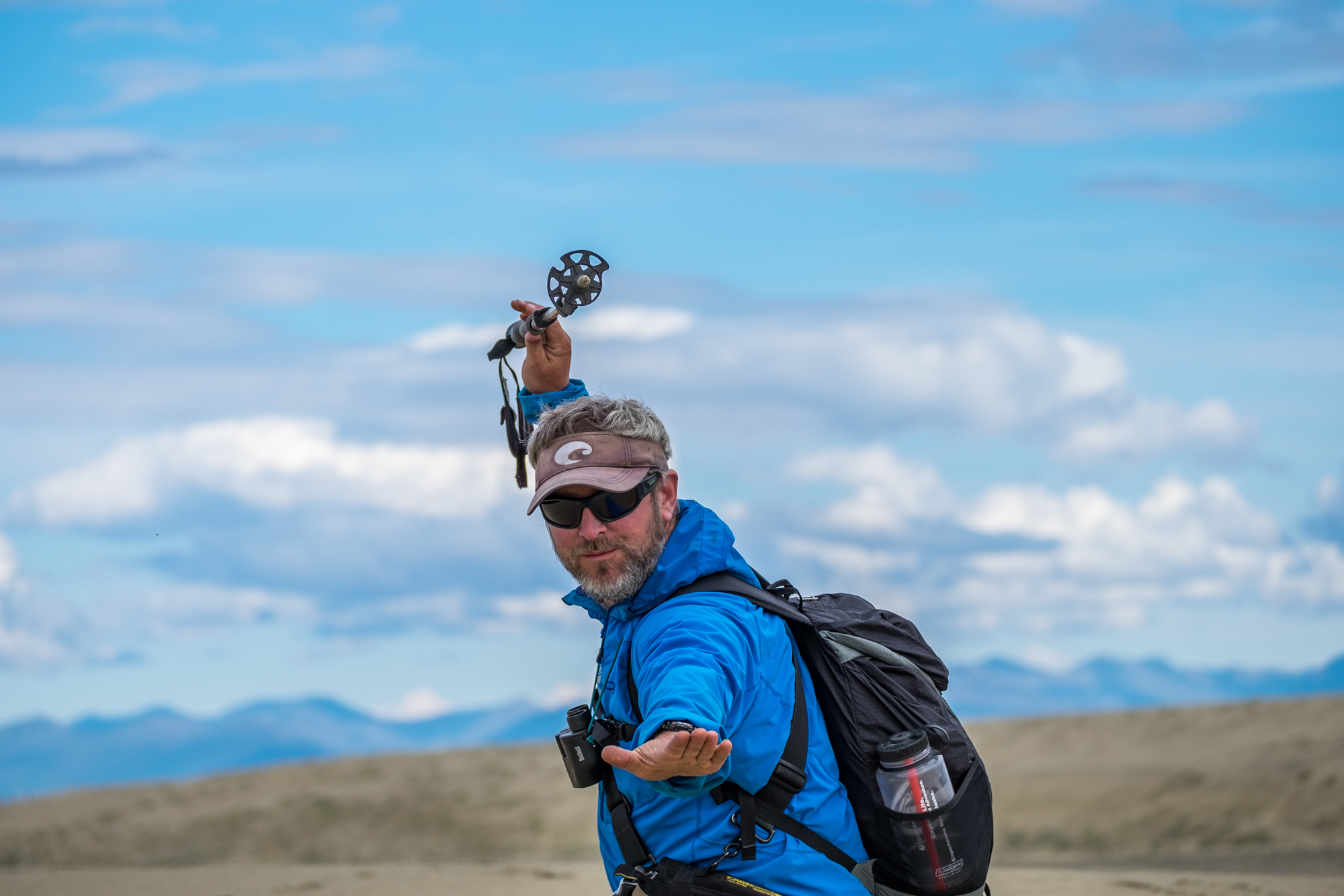 One of our two fearless guides, Nick -- a lead guide with Alaska Alpine Adventures.