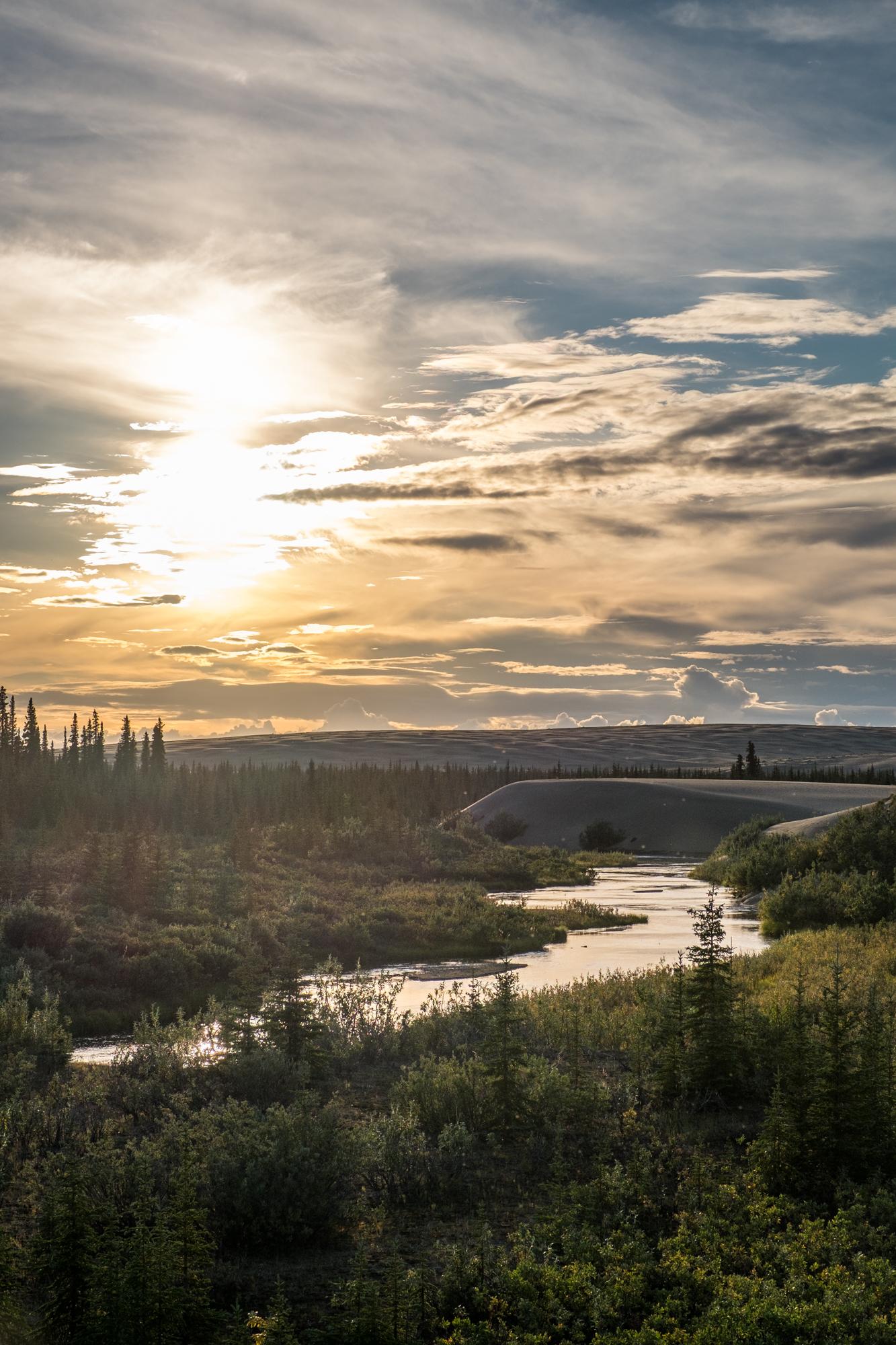The enchanting, like-a-dream landscape at Kobuk National Park in Alaska.
