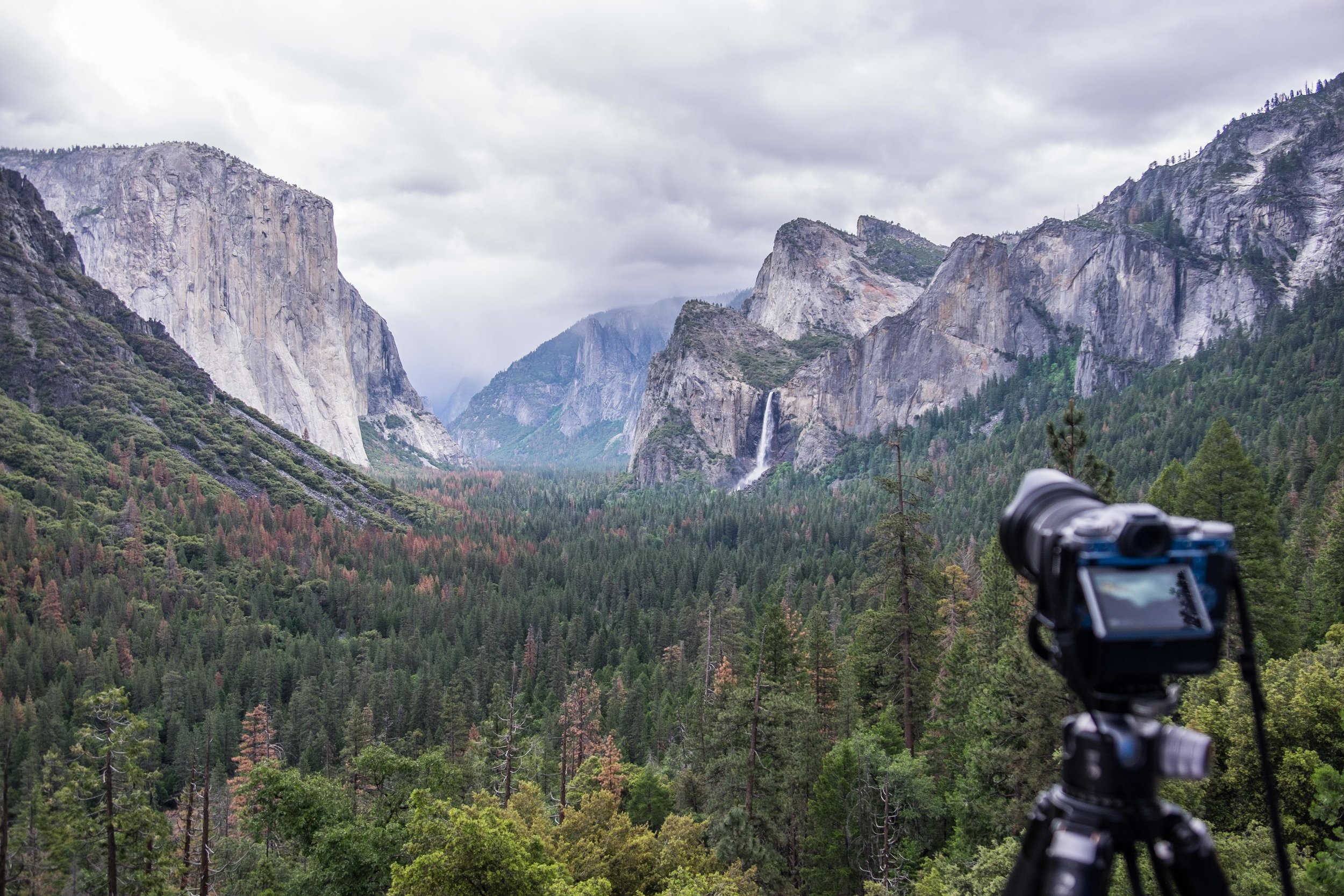 Fujifilm X-T1 Mirrorless Camera (set up for sunset at Tunnel View in Yosemite.)
