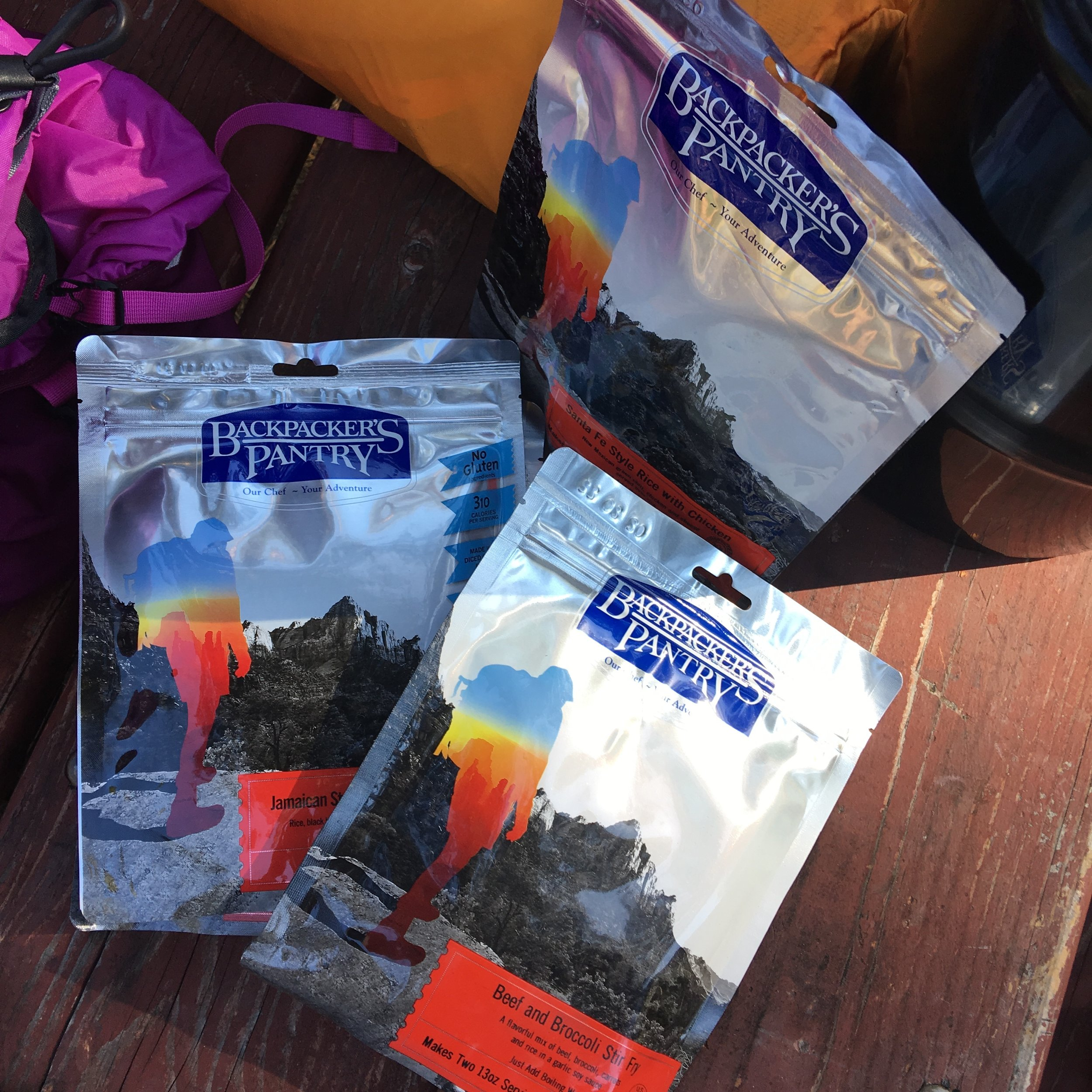 Backpackers Pantry dehydrated food -- big energy in a compact bag.
