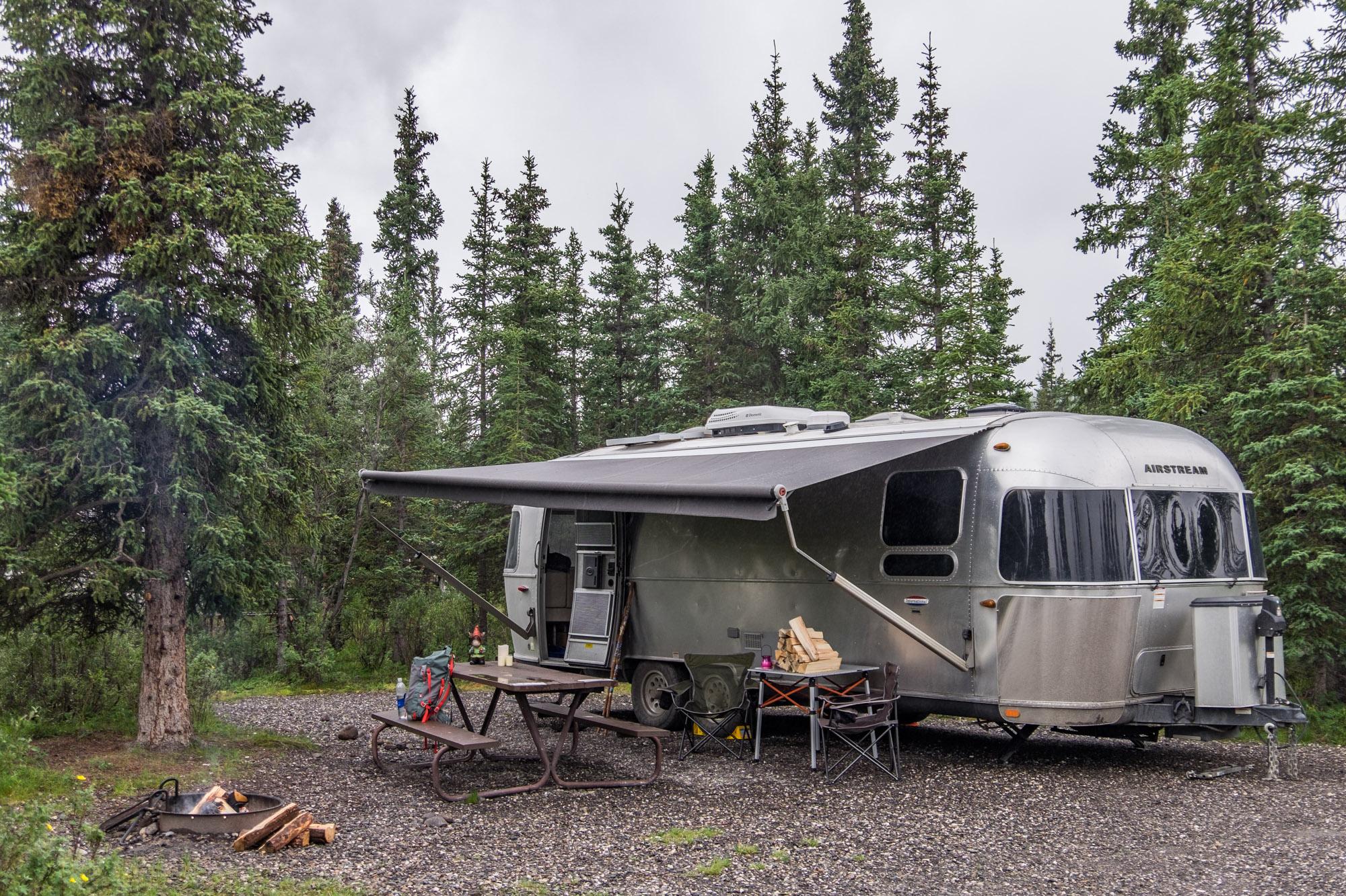 Wally in Denali! Camping at the Teklanika campground in Denali National Park, Alaska.