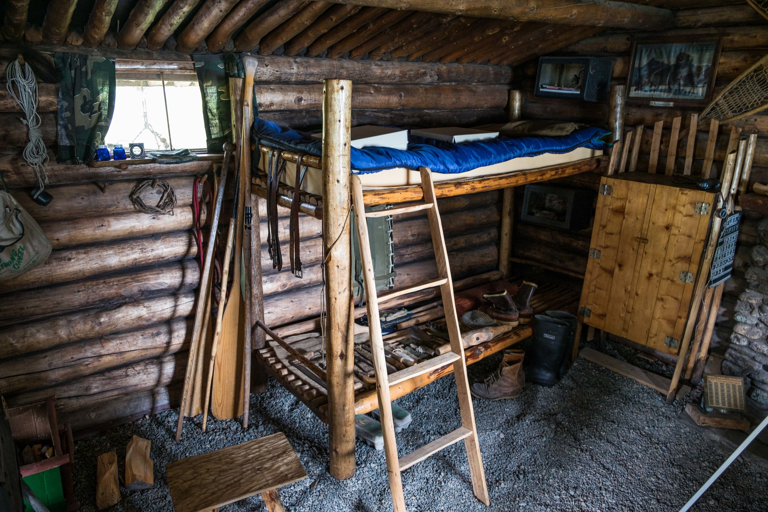 Proennekke spent most of his life in this one-room cabin.