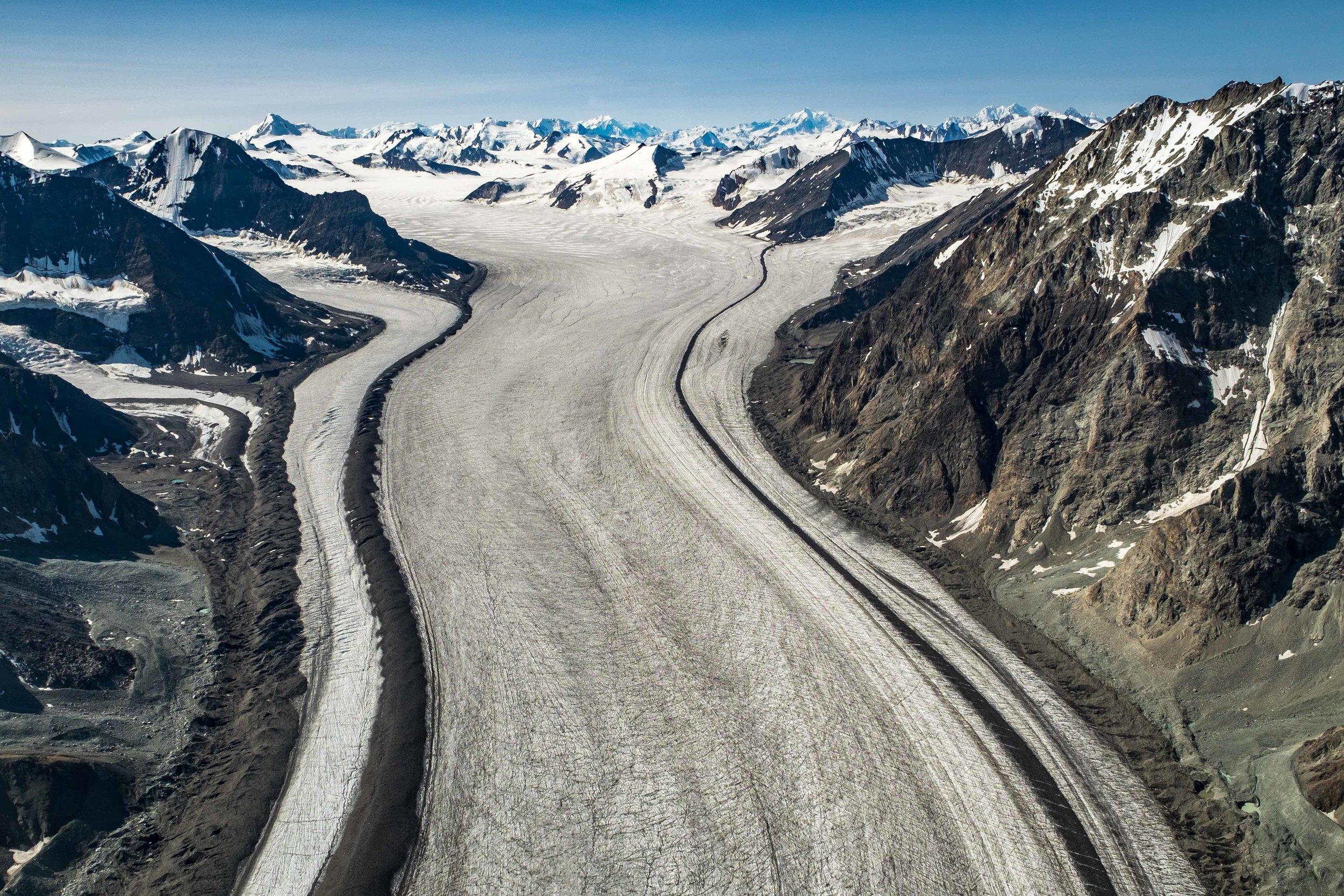 Heading back to McCarthy we saw so many glaciers.
