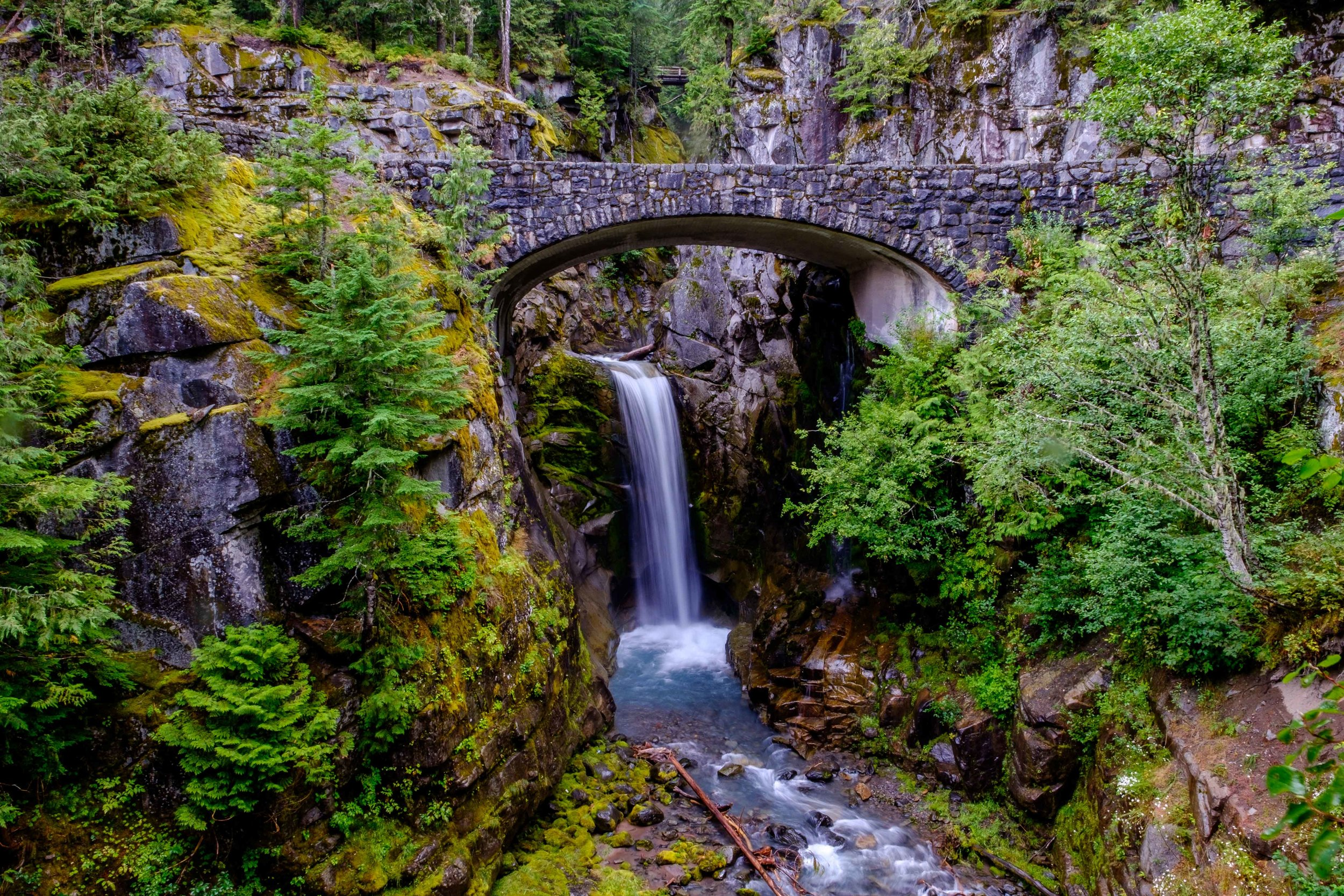 Christine Falls in Mount Rainier National Park.