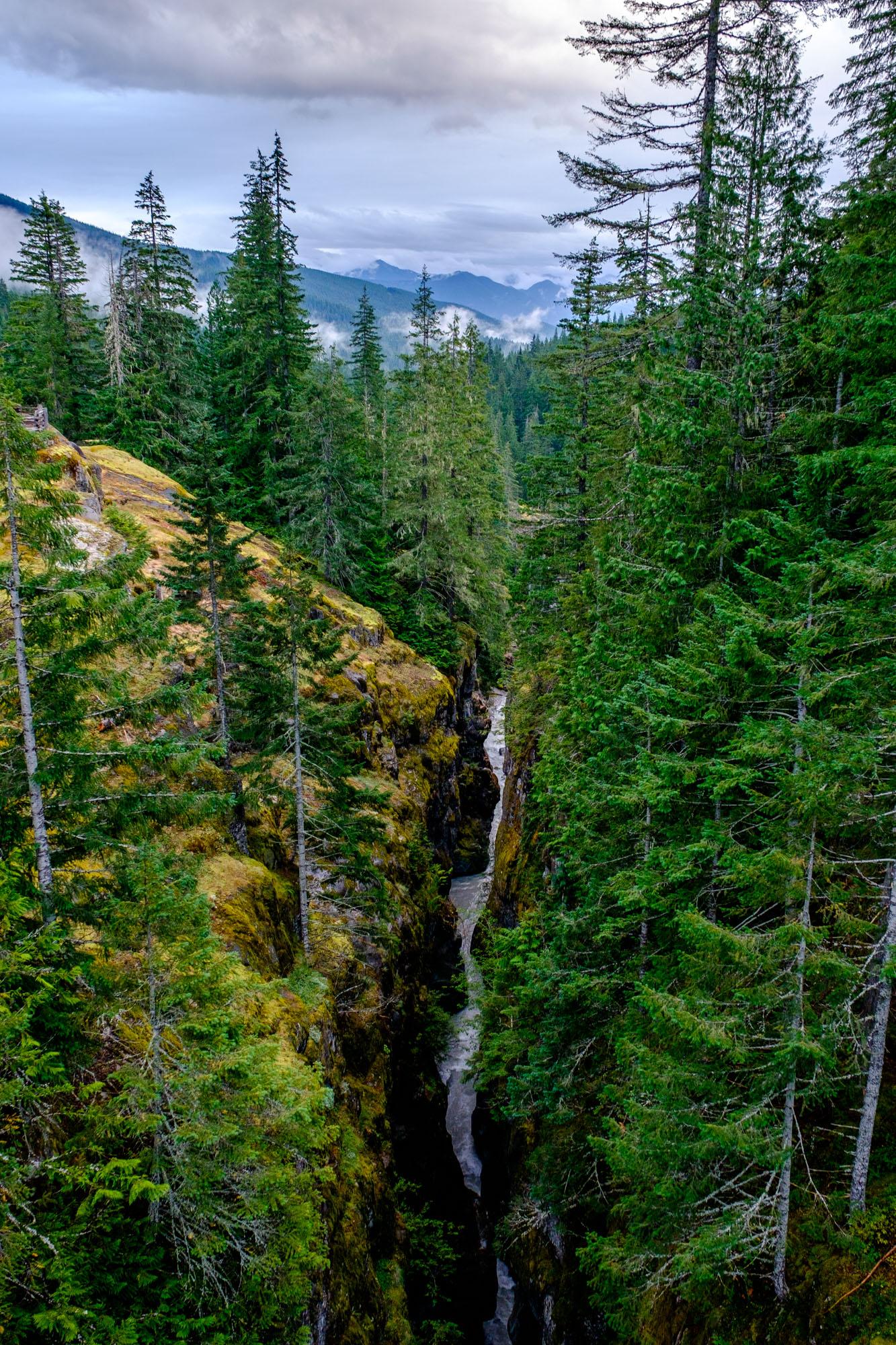 Steep and narrow Box Canyon.