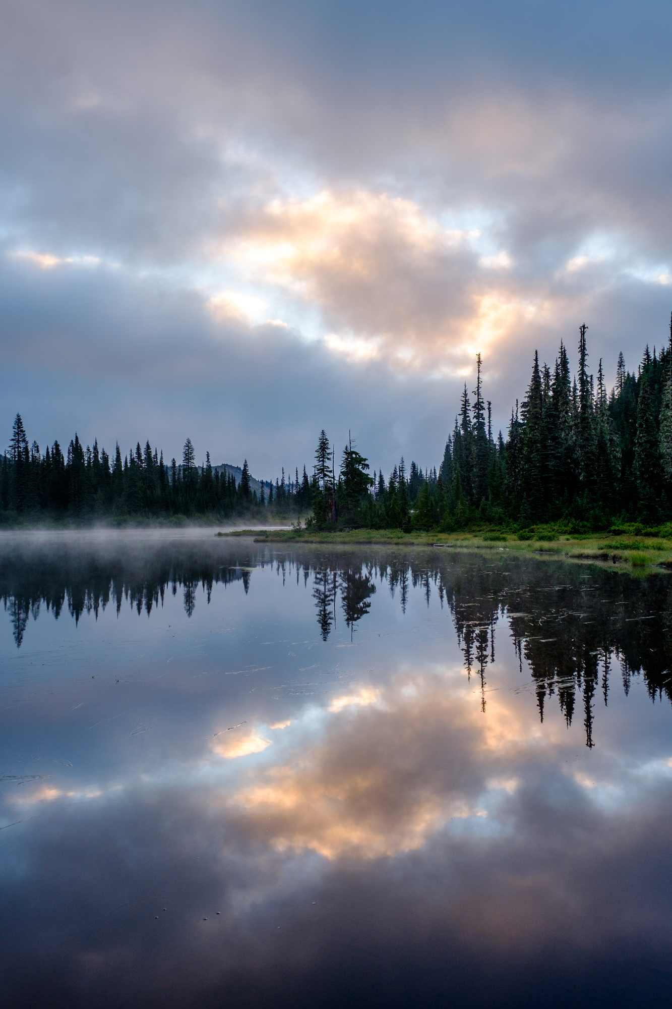 Reflection lakes....hoping Mount Rainier will come out to play!