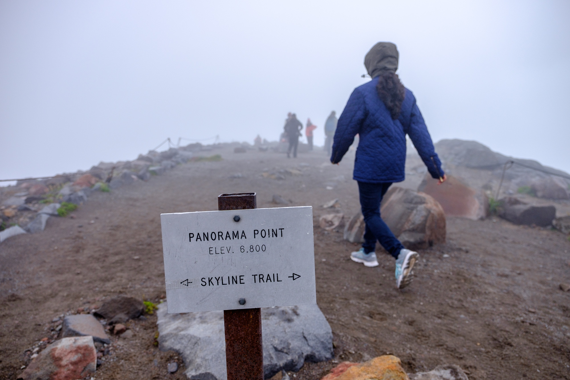 There wasn't much panorama at Panorama Point due to weather, but it was still fun to hike there.