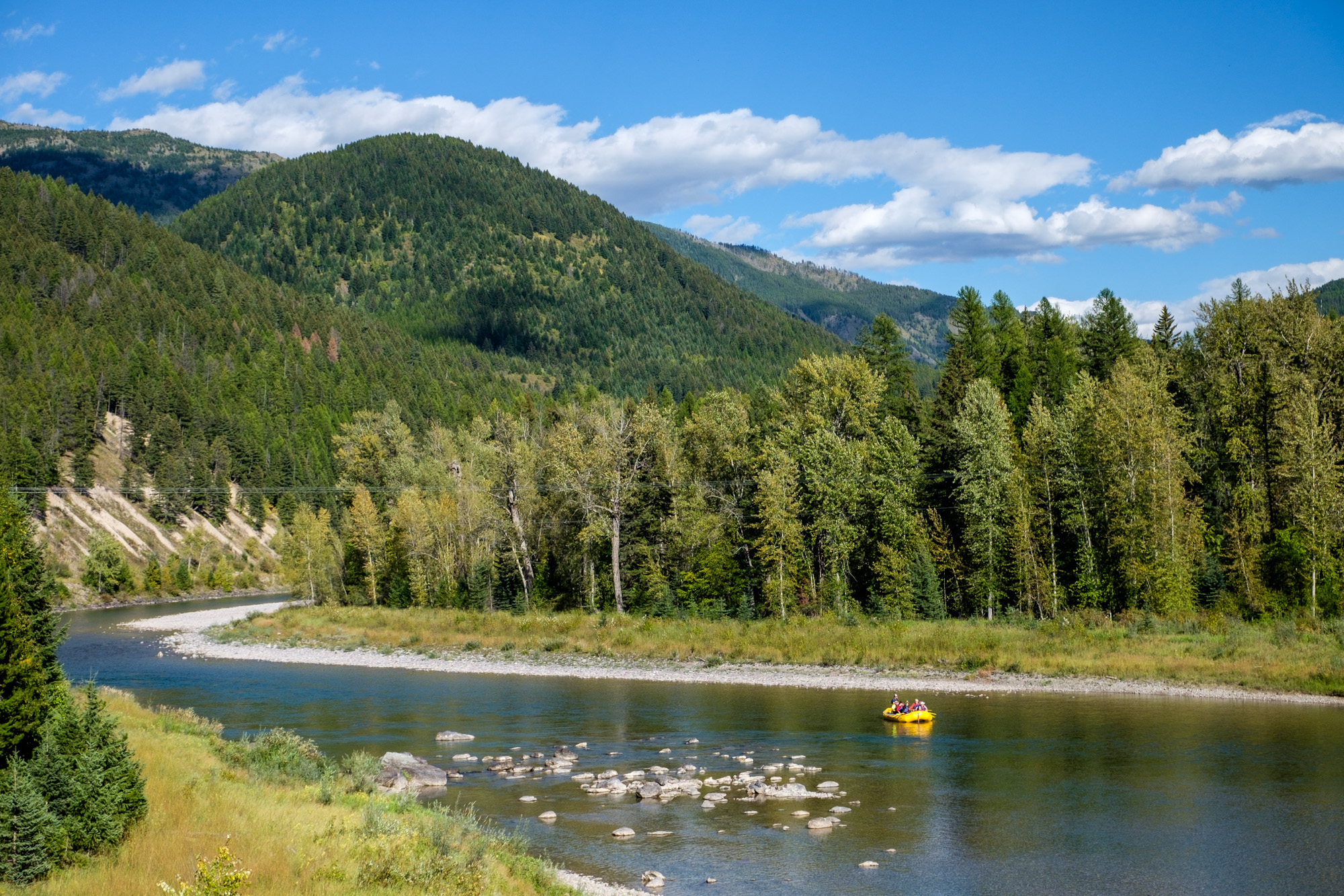 Floating the Middle Fork of the Flathead River is a fun thing to do on the west side of the park.