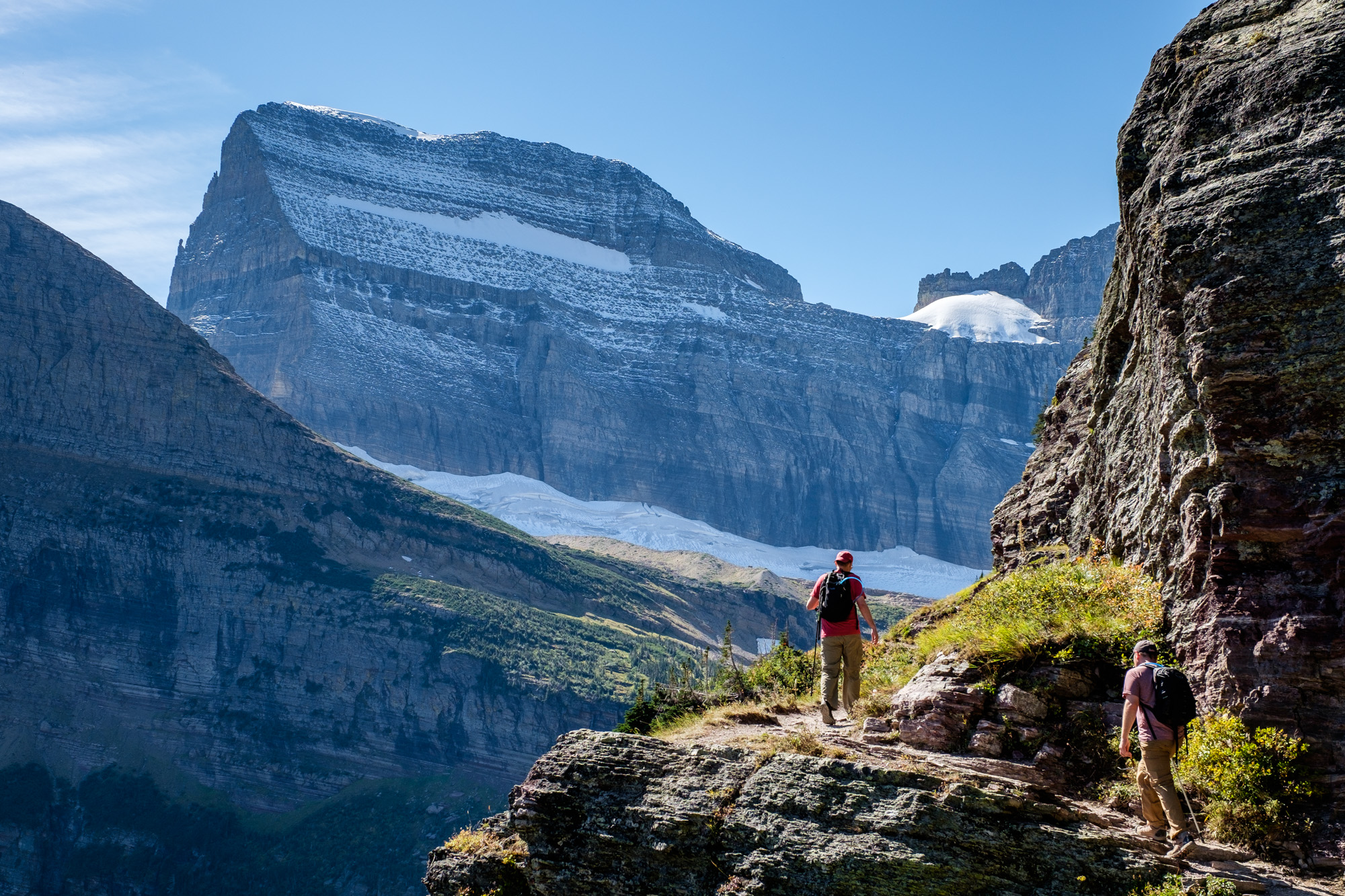 The views just kept getting better and better as we ascended the Grinnell Glacier Trail.