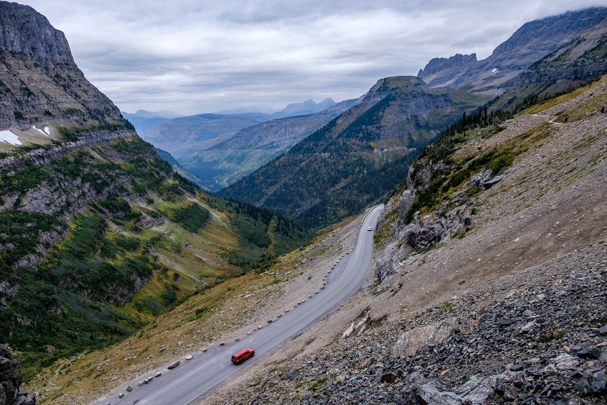 One of the very cool things about this trail is the birdseye view of Going-to-the-Sun Road.