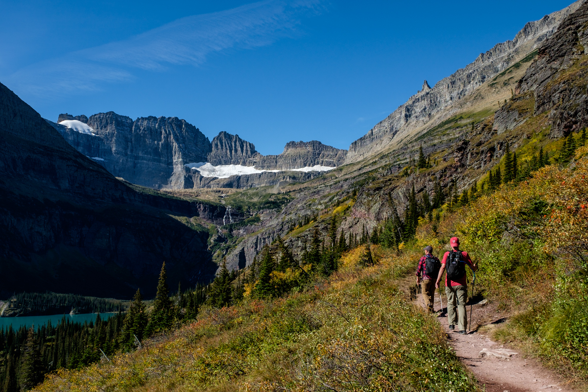 The Grinnell Glacier Trail is one of the most popular in the park.